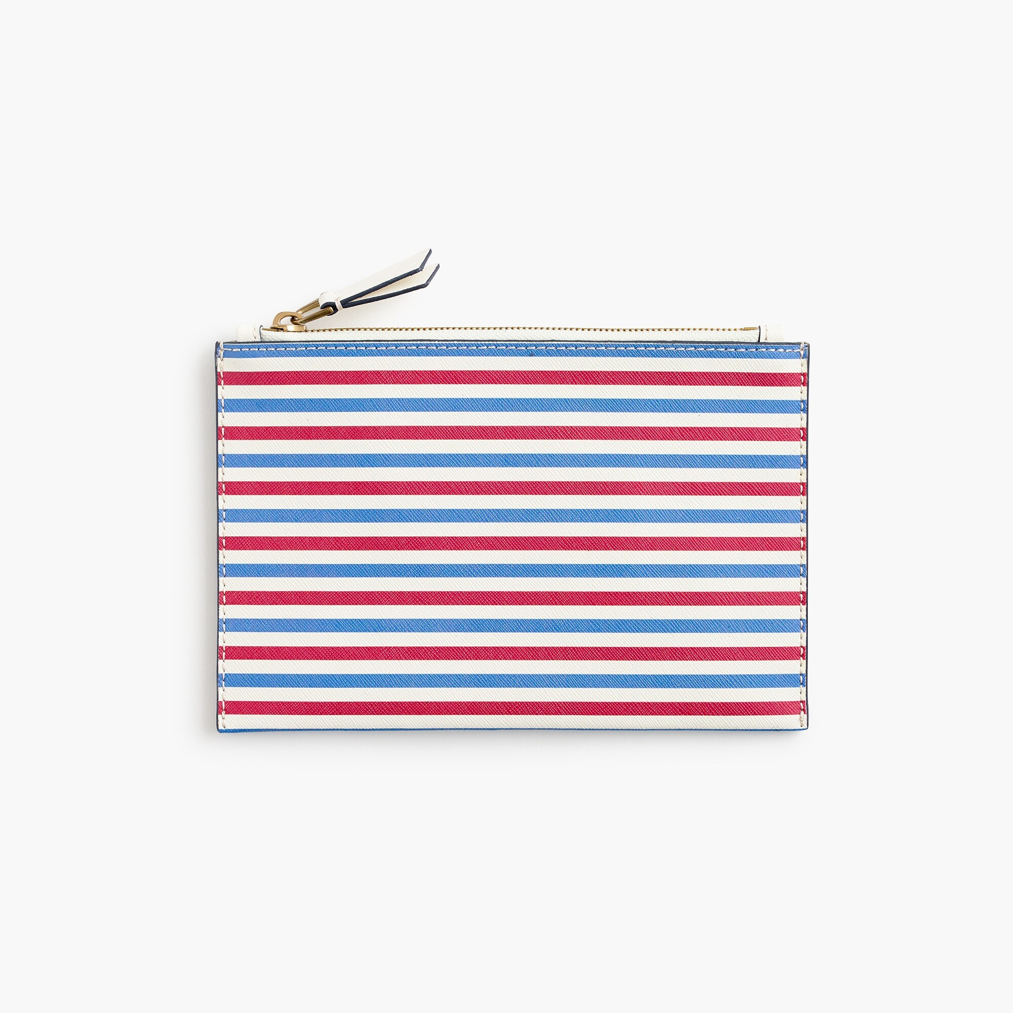 Medium striped pouch