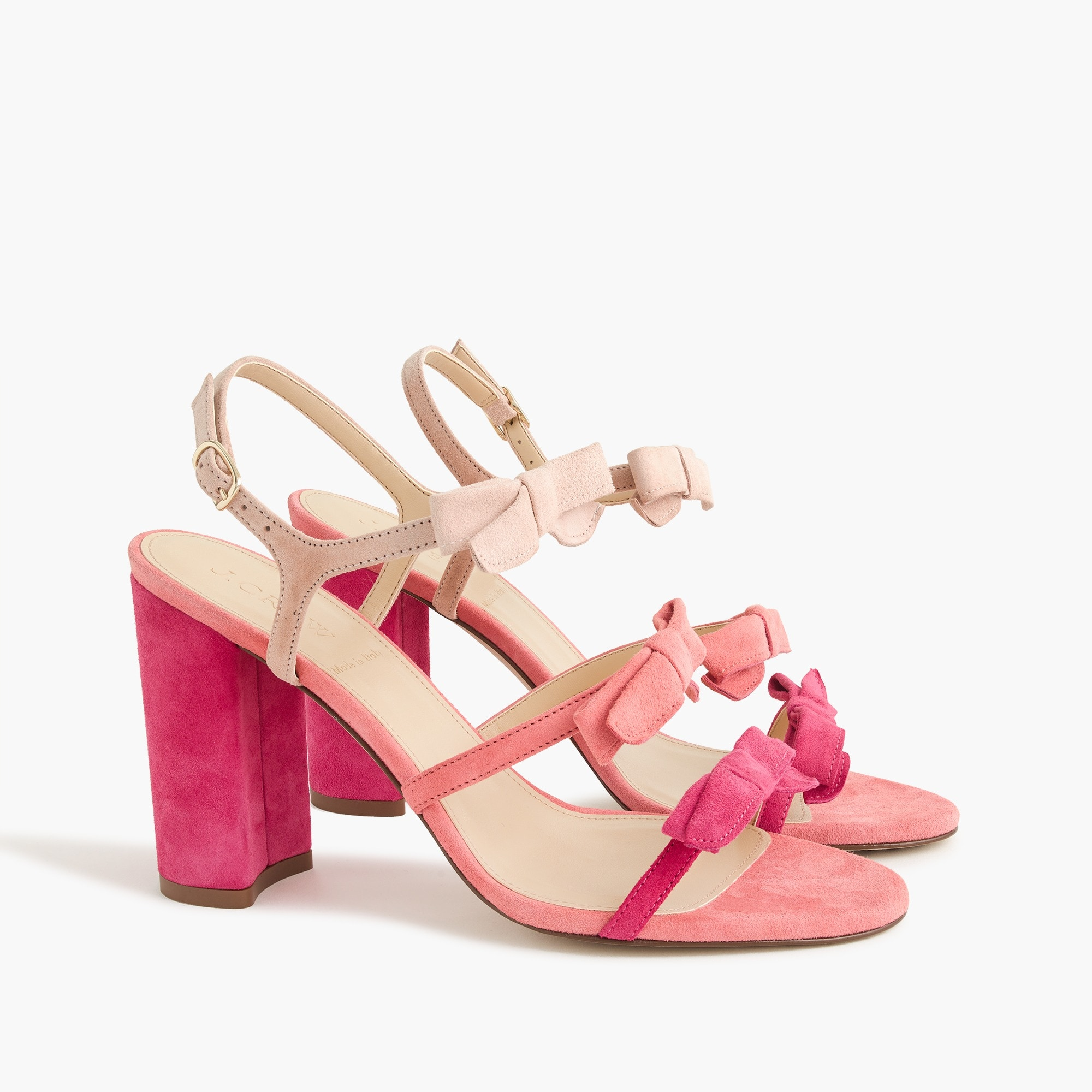 Stella bow heels (100mm) in fuschia women shoes c