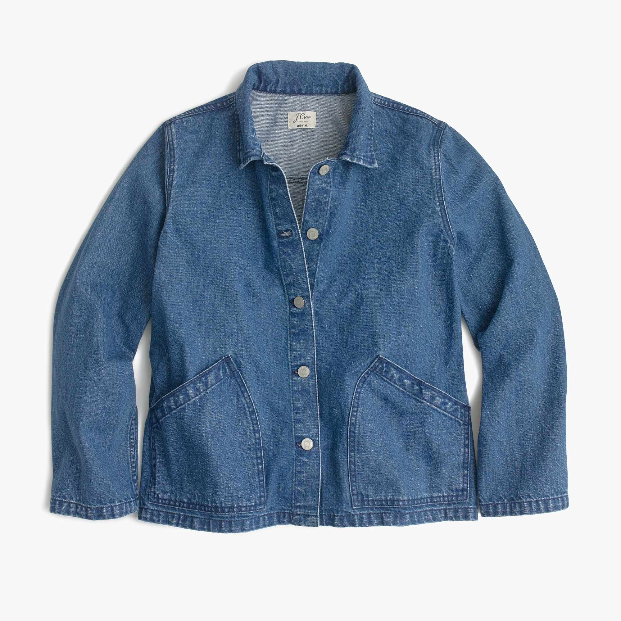 Denim swing jacket in Lily wash