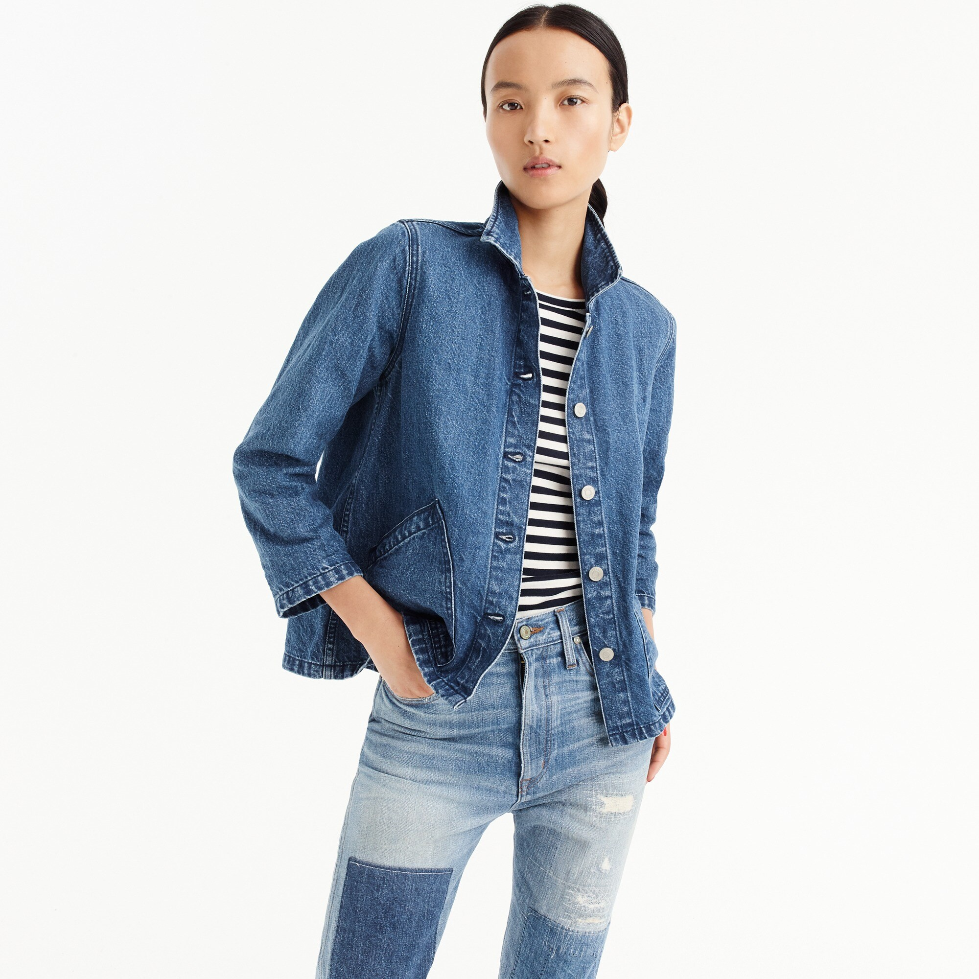 Image 1 for Denim swing jacket in Lily wash