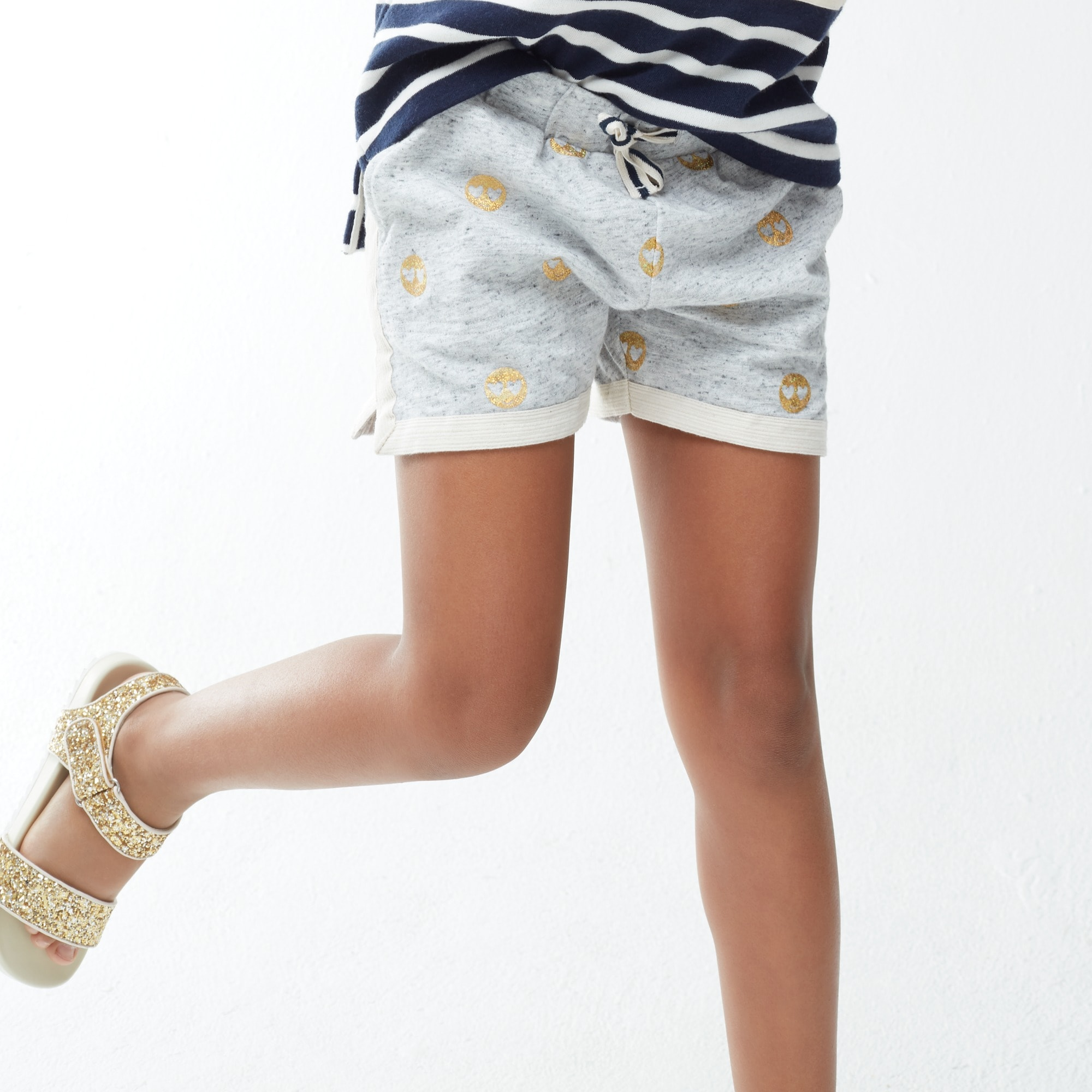 Girls' emoji pull-on short girl new arrivals c
