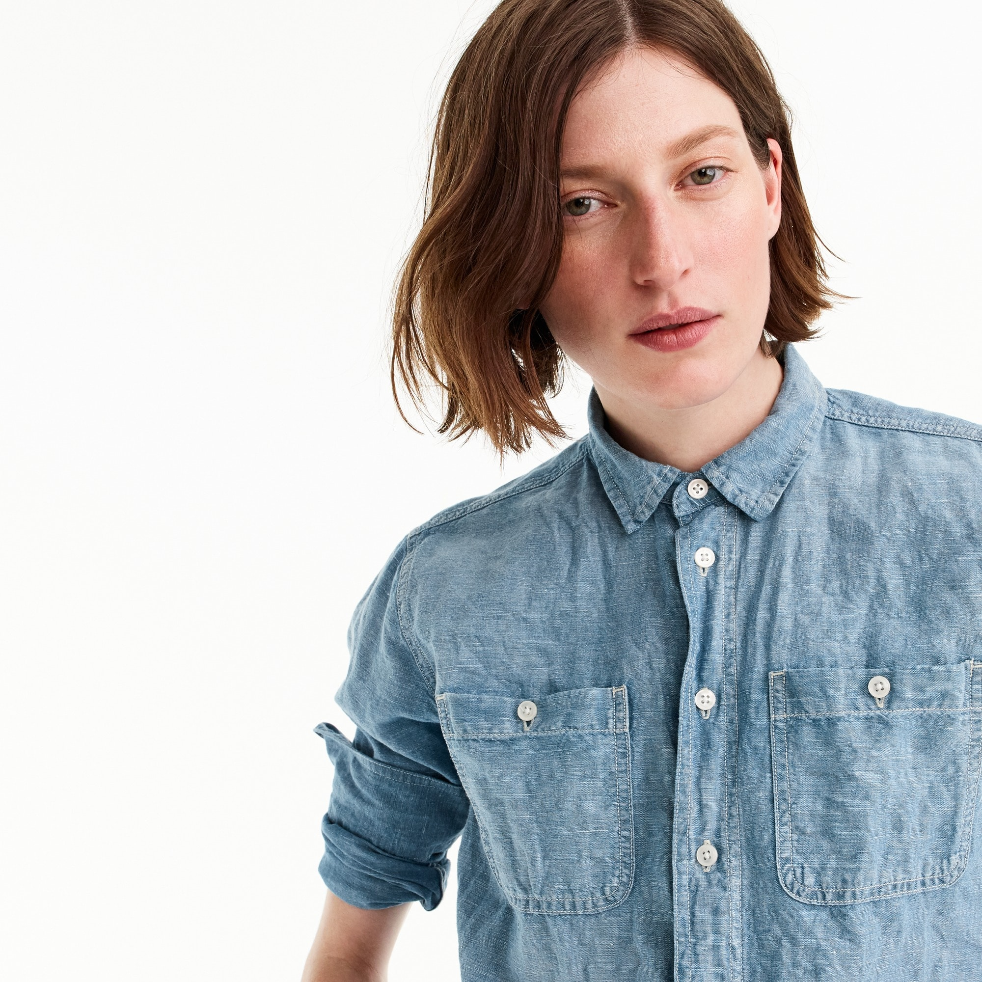 Tall relaxed chambray boy shirt