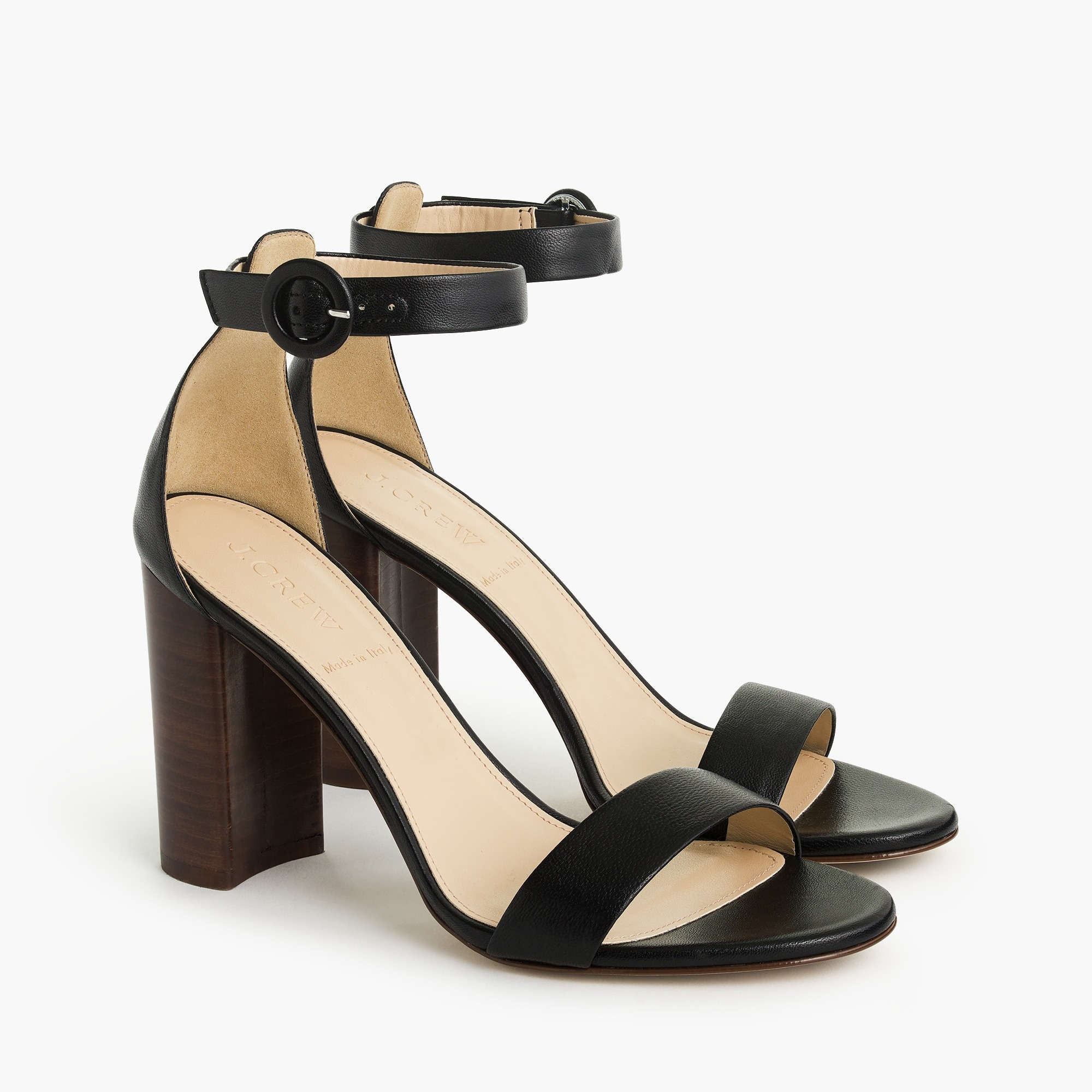 Ankle strap stacked-heel sandals (100mm) women shoes c