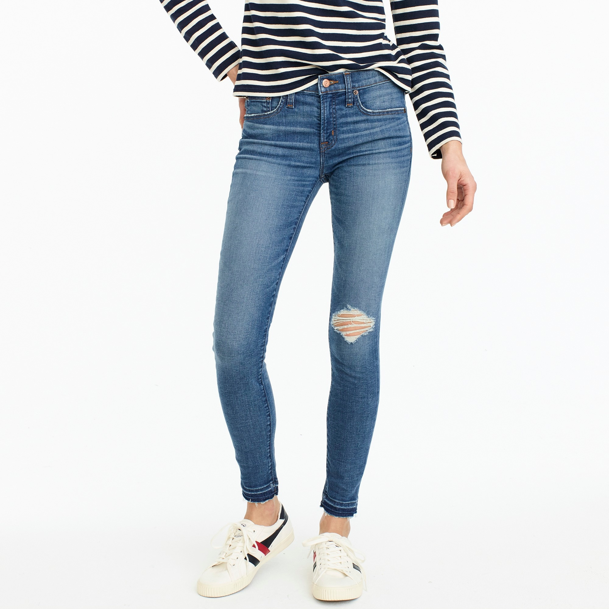 women's tall 8 toothpick jean in newcastle wash with let-down hem - women's jeans