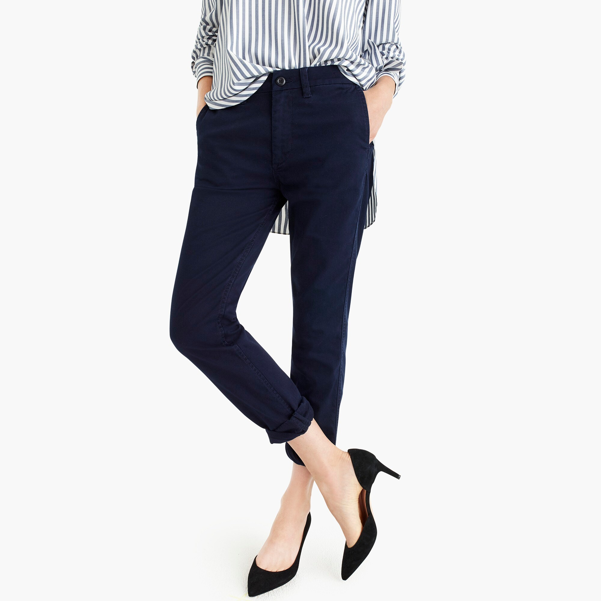 womens Tall high-rise slim boy chino pant
