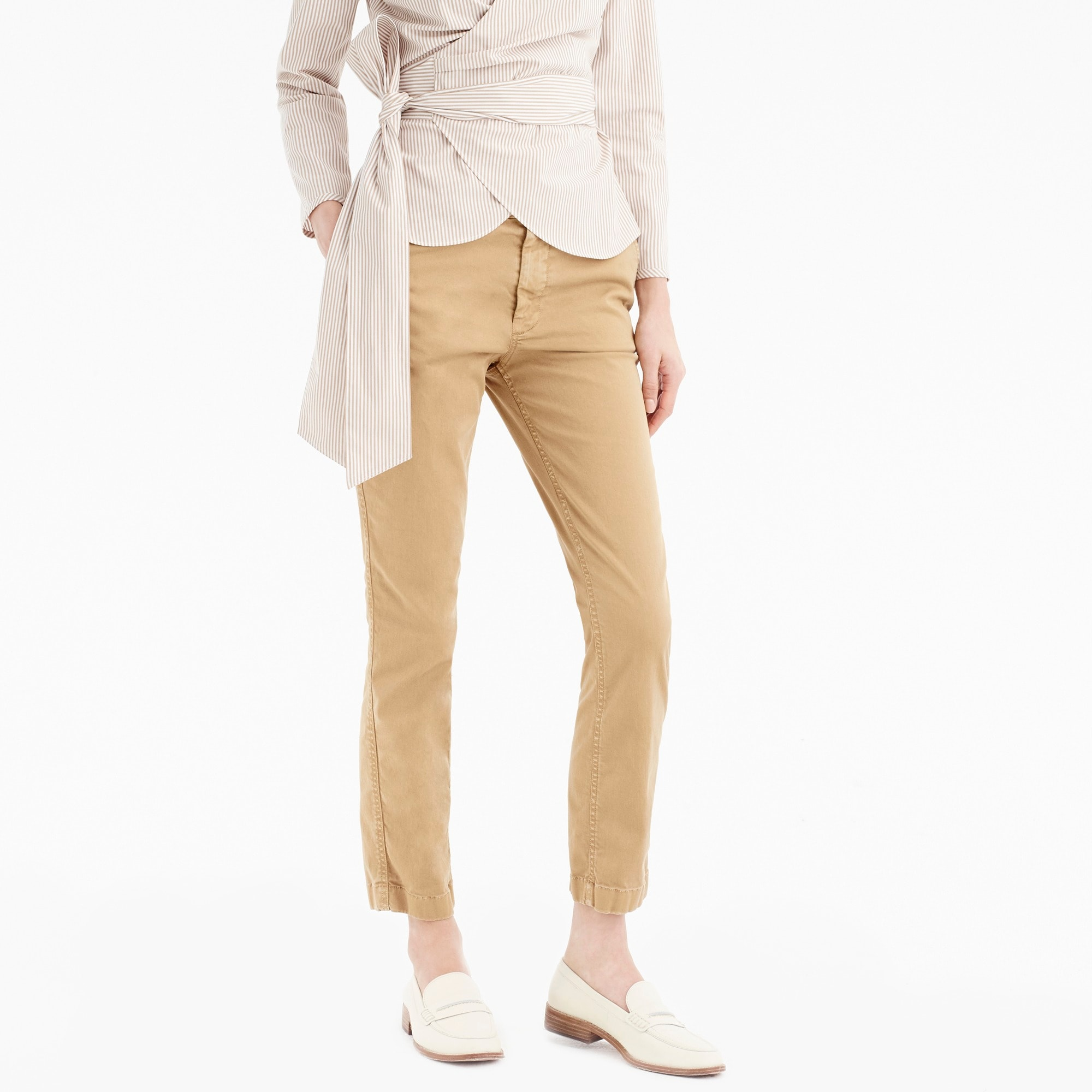 womens High-rise slim boy chino pant