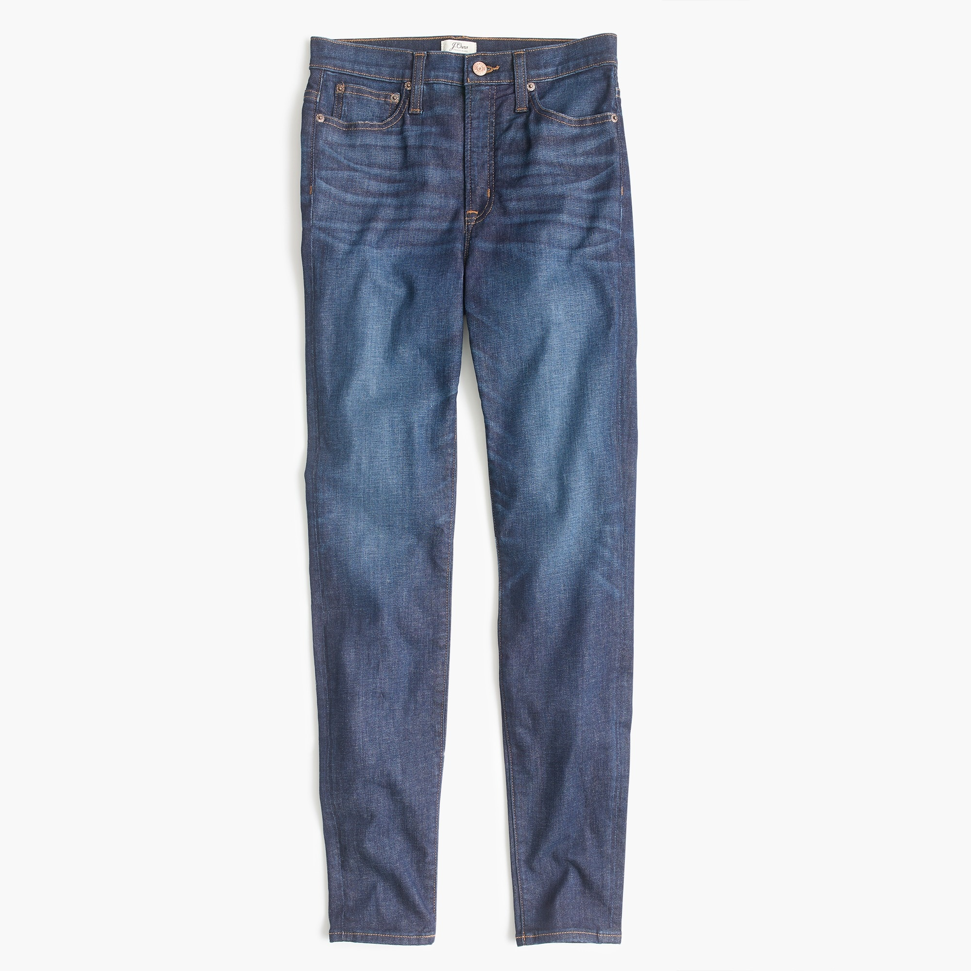 "Petite 10"" highest-rise toothpick jean in medium wash"
