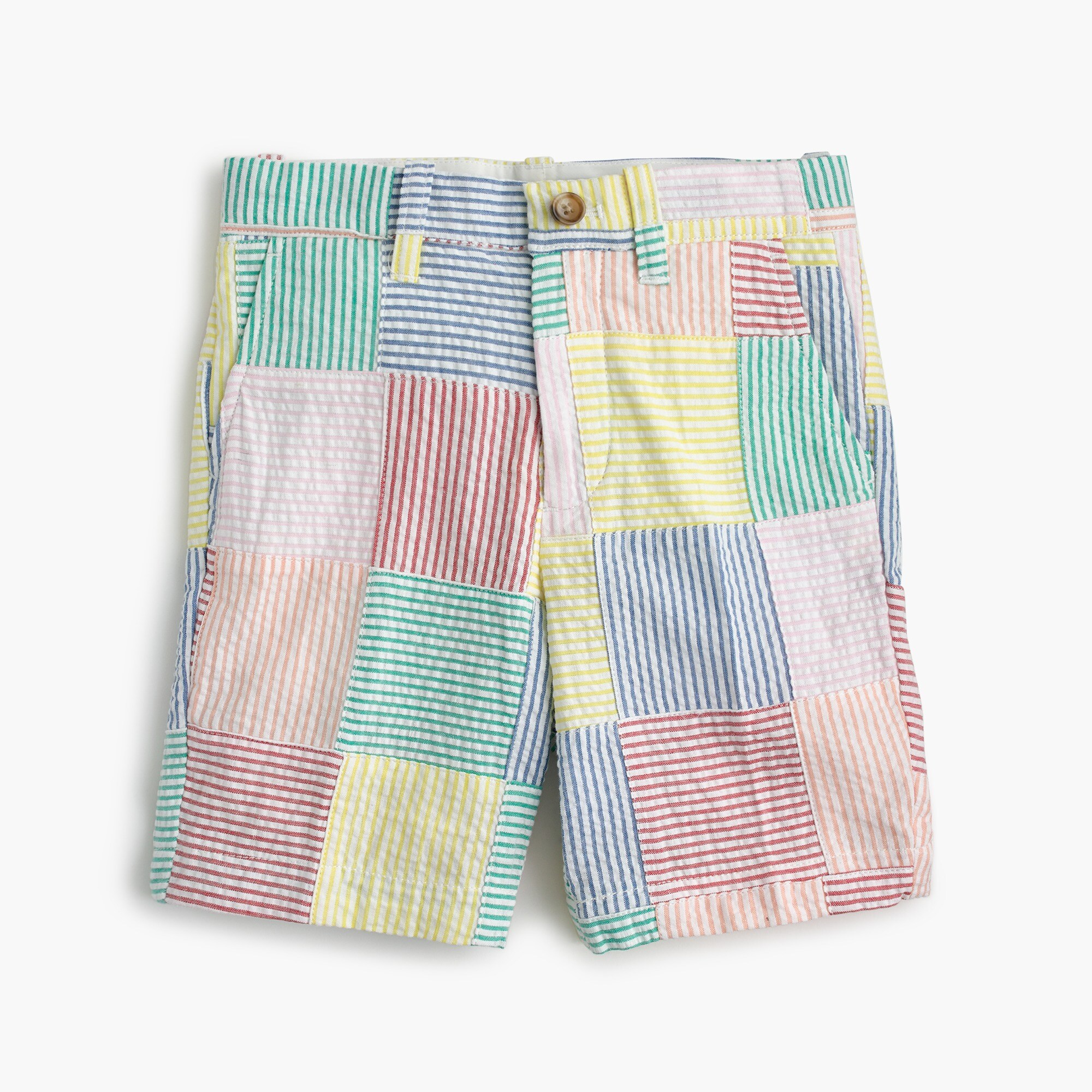 boys Boys' Stanton short in patchwork seersucker