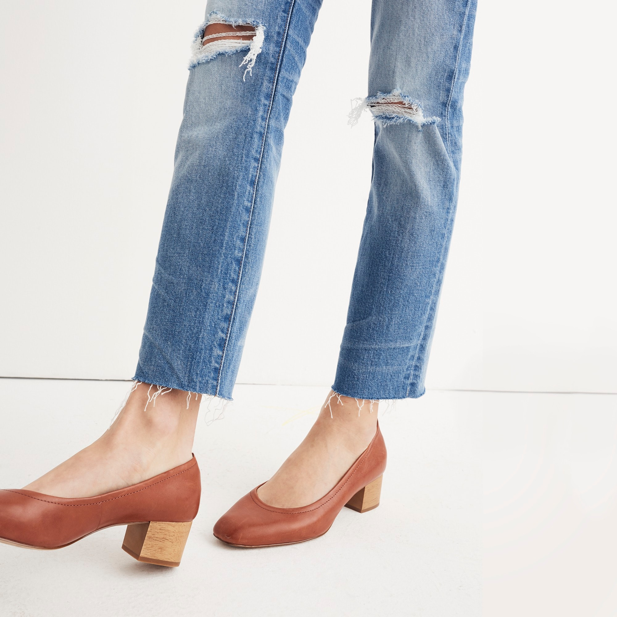 The Madewell high-rise slim boyjean: knee-rip edition women j.crew in good company c
