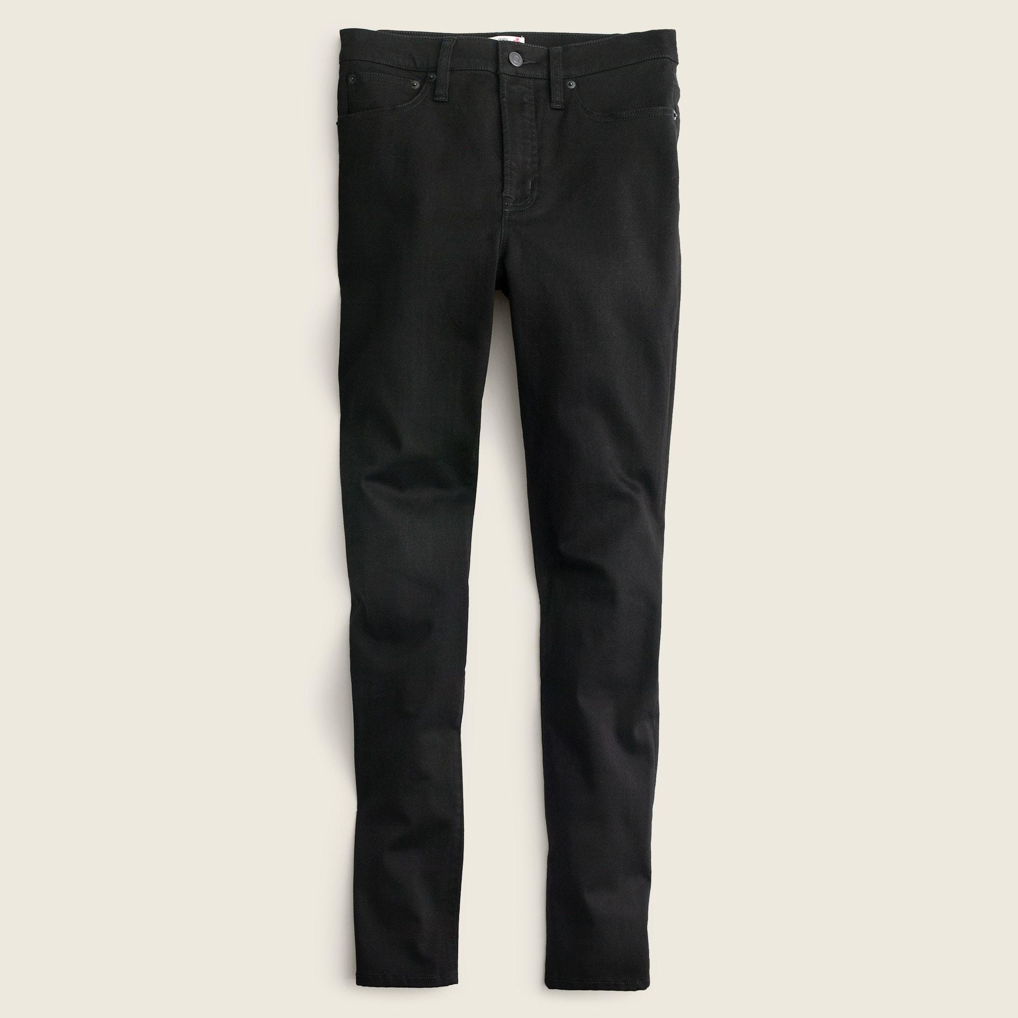 "Tall 10"" highest-rise toothpick jean in true black"