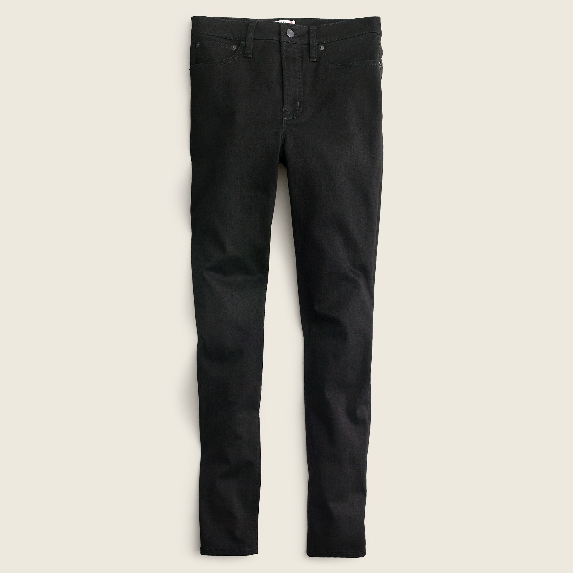 "Image 5 for Tall 10"" highest-rise toothpick jean in true black"