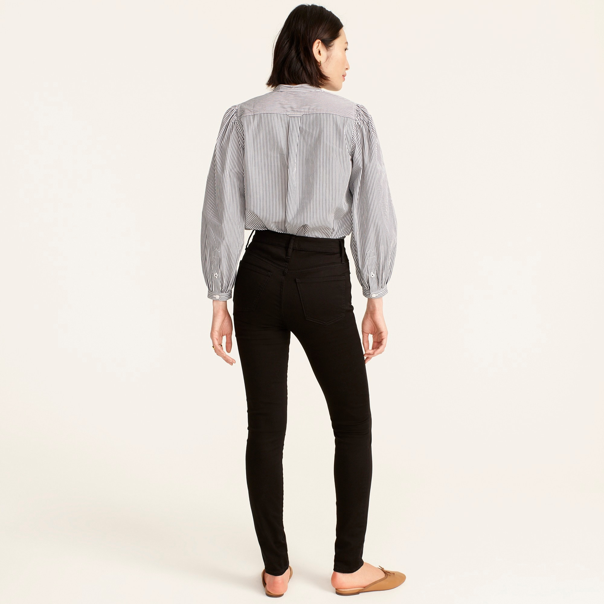 "Image 4 for Tall 10"" highest-rise toothpick jean in true black"