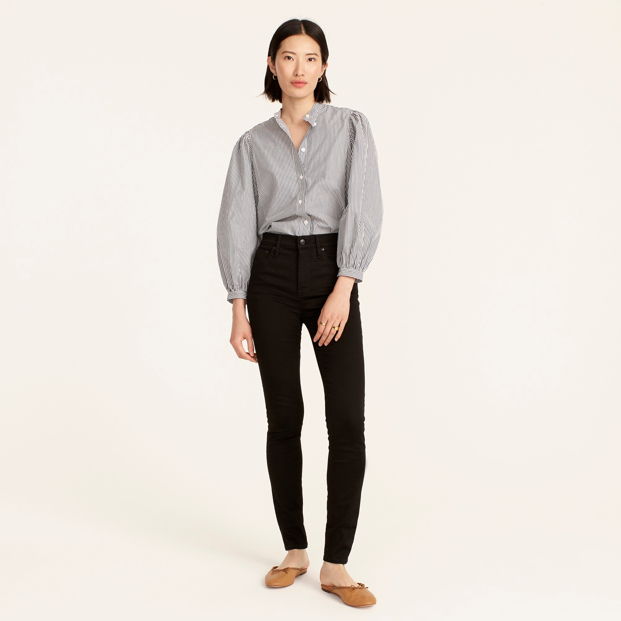 "Tall 10"" highest-rise toothpick jean in true black women tall c"