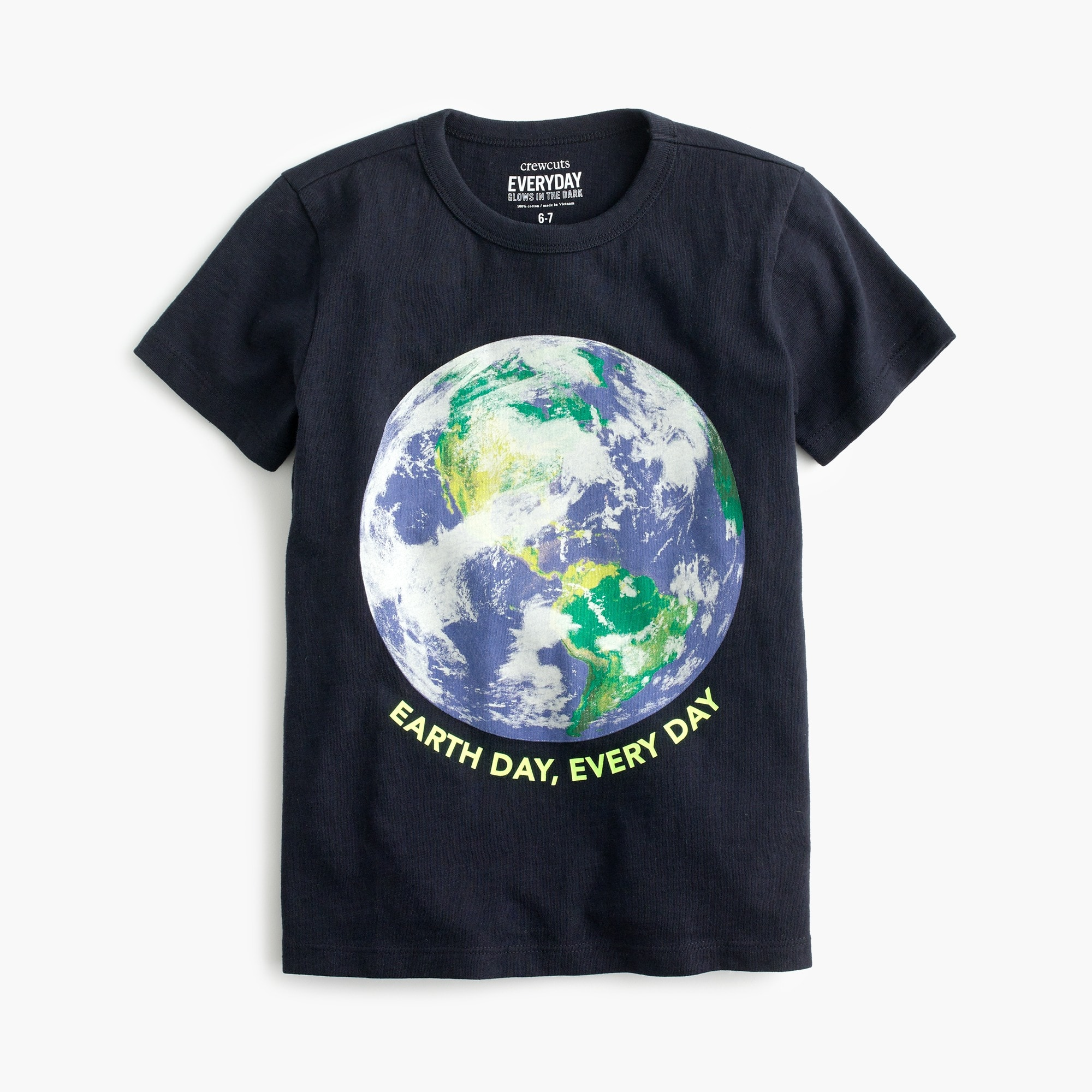 Kids' glow-in-the-dark Earth Day T-shirt