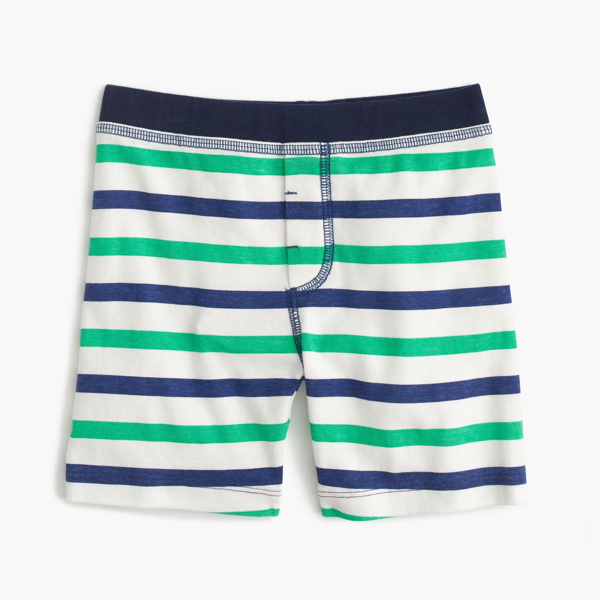 Kids' short pajama set in cabana stripes