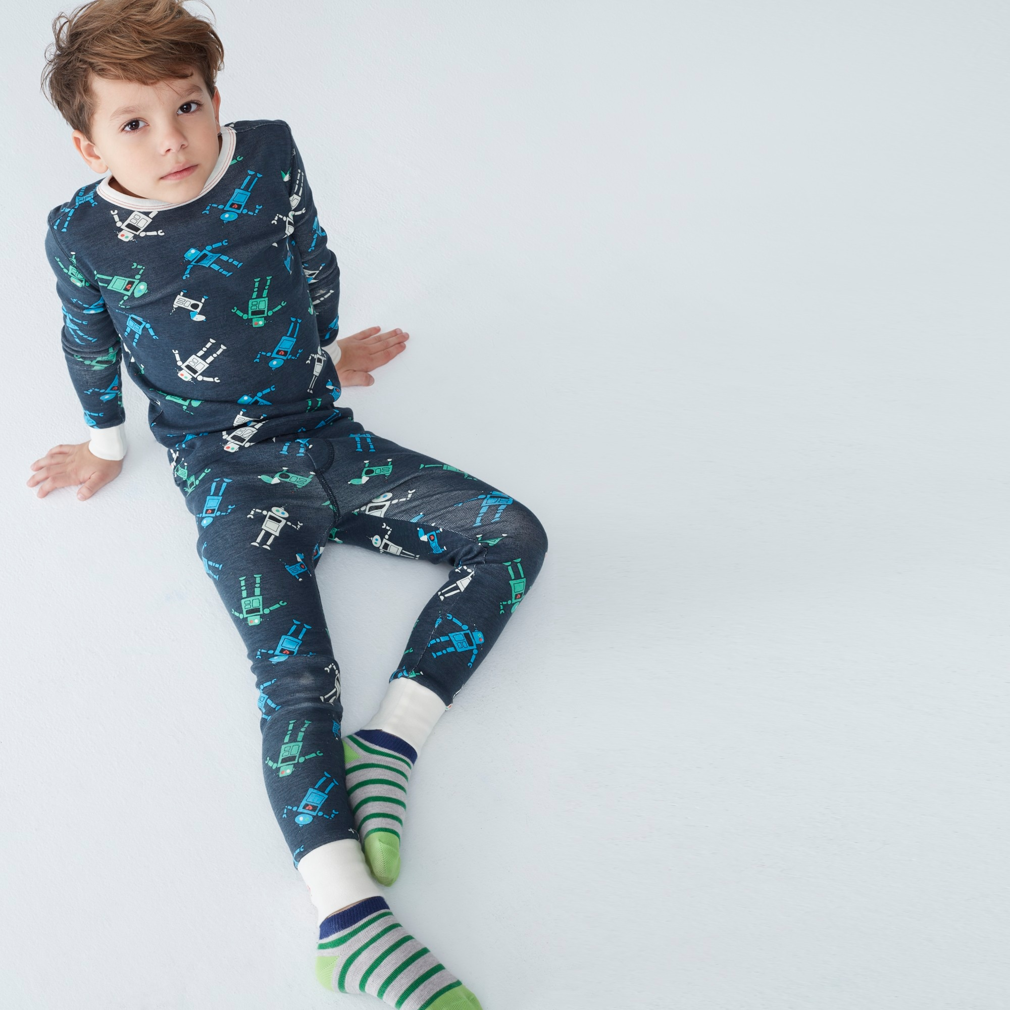 Kids' pajama set in robots boy pajamas c