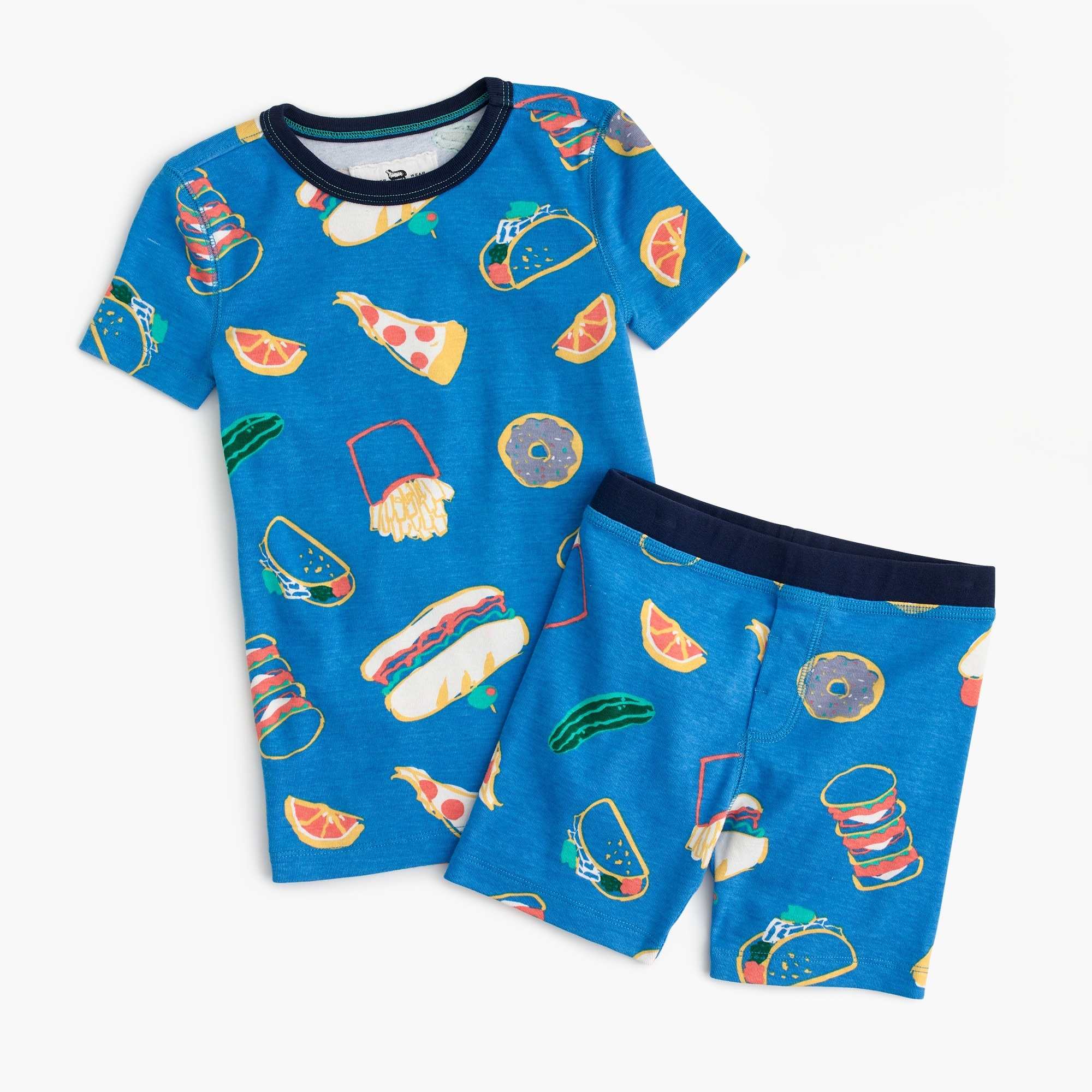 Kids' short pajama set in pizza party boy pajamas c