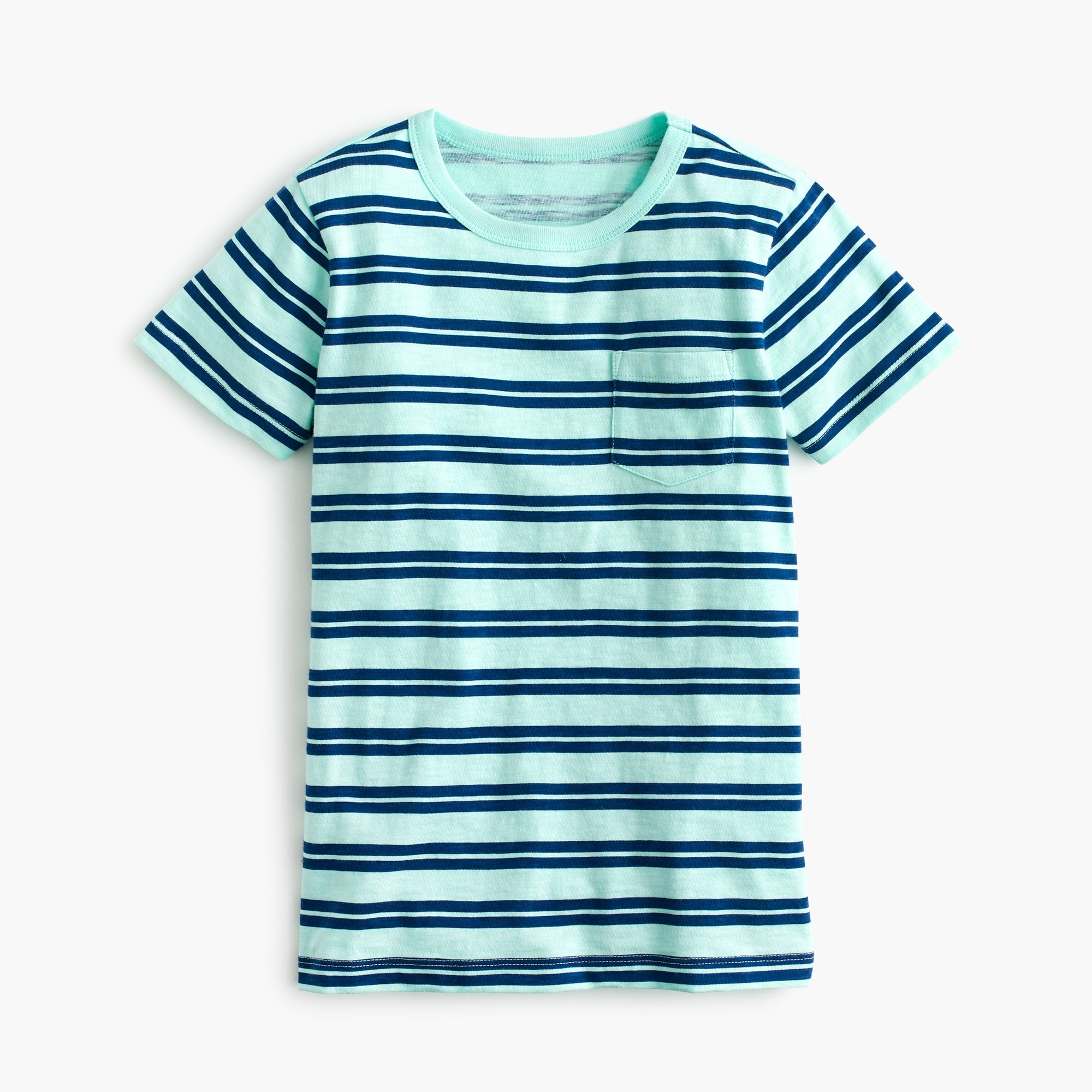Boys' striped pocket T-shirt boy new arrivals c