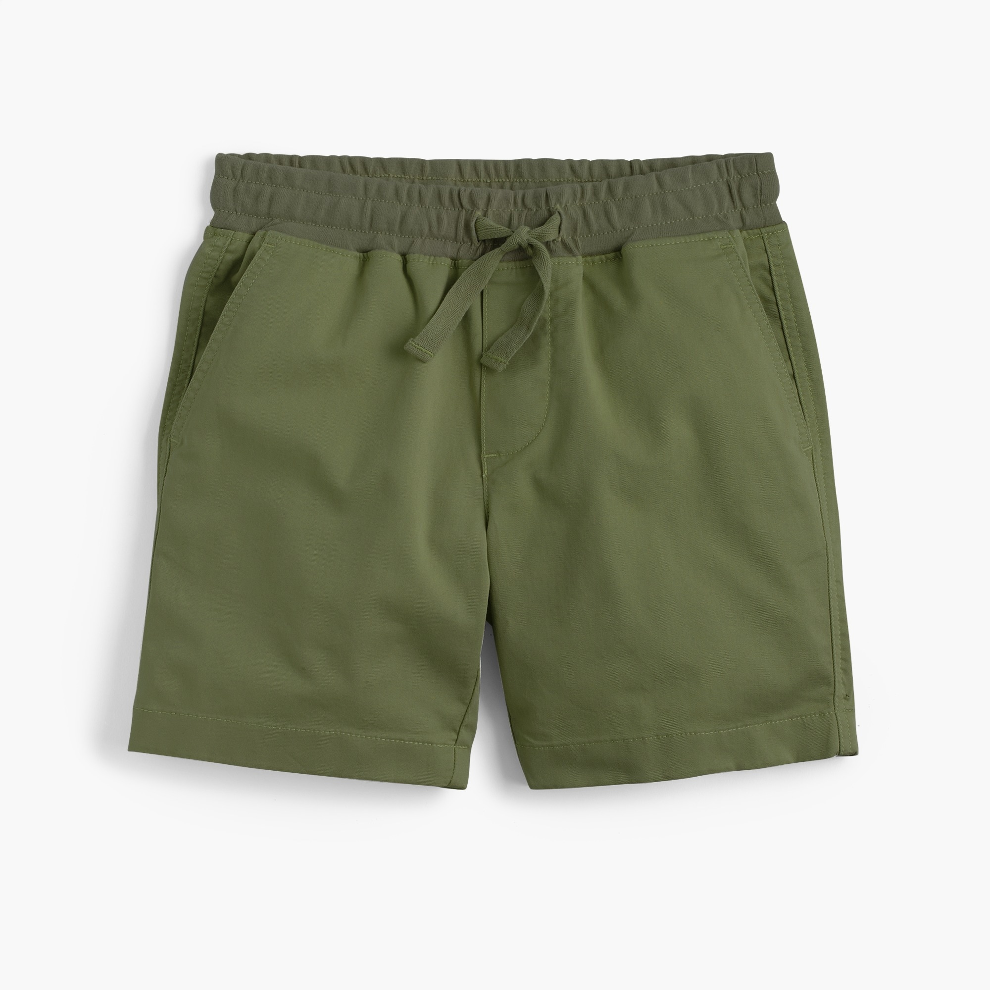 Boys' stretch pull-on short in lightweight cotton