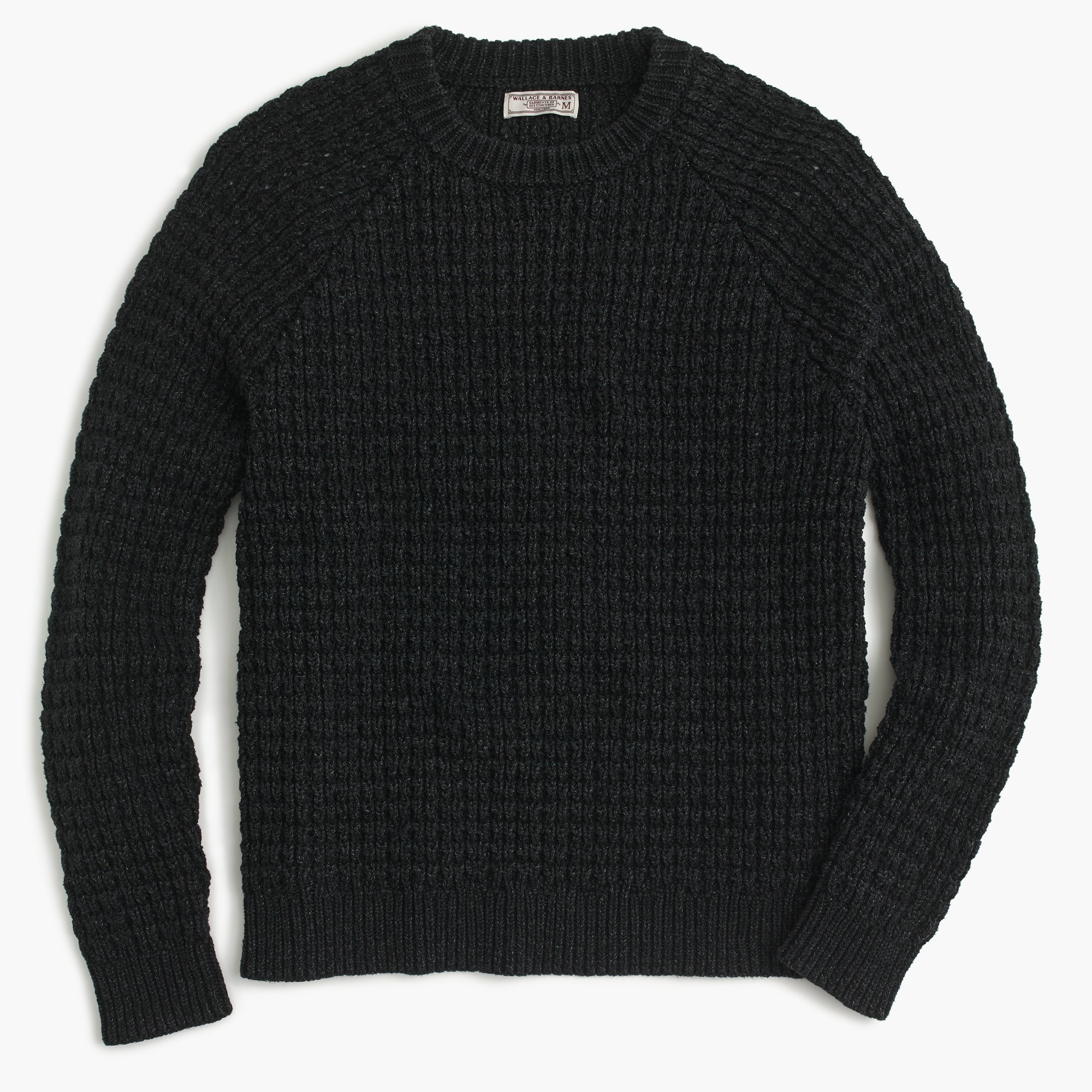 men's wallace & barnes cotton crewneck sweater in waffle - men's sweaters