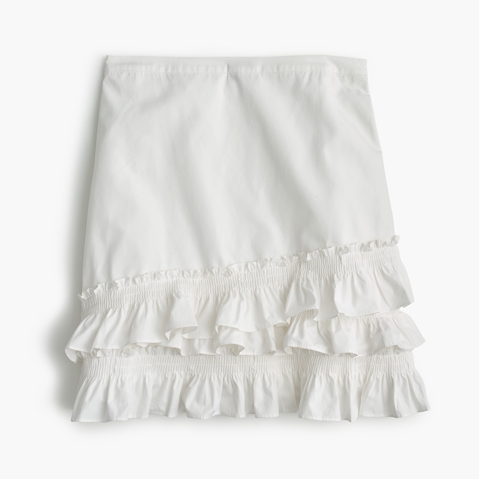 women's tall ruffle skirt in cotton-poplin - women's skirts
