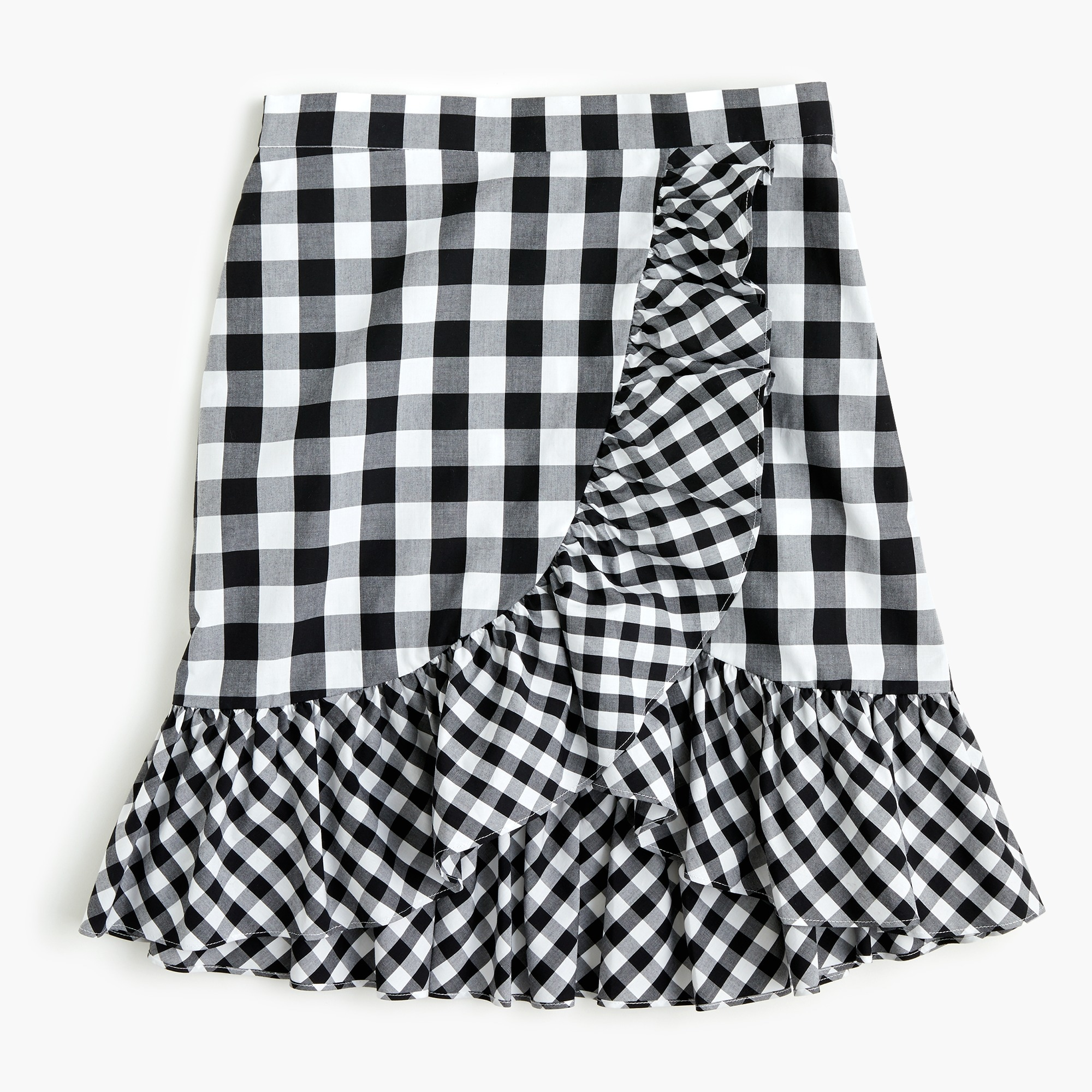 Ruffle mini skirt in gingham