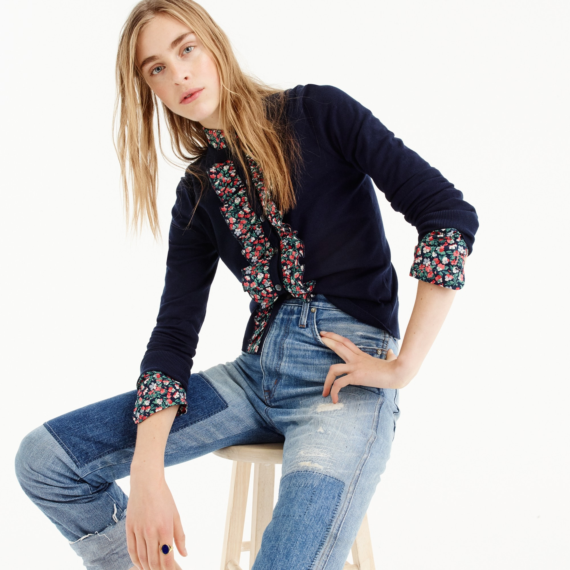 Image 1 for Liberty® ruffle Jackie cardigan