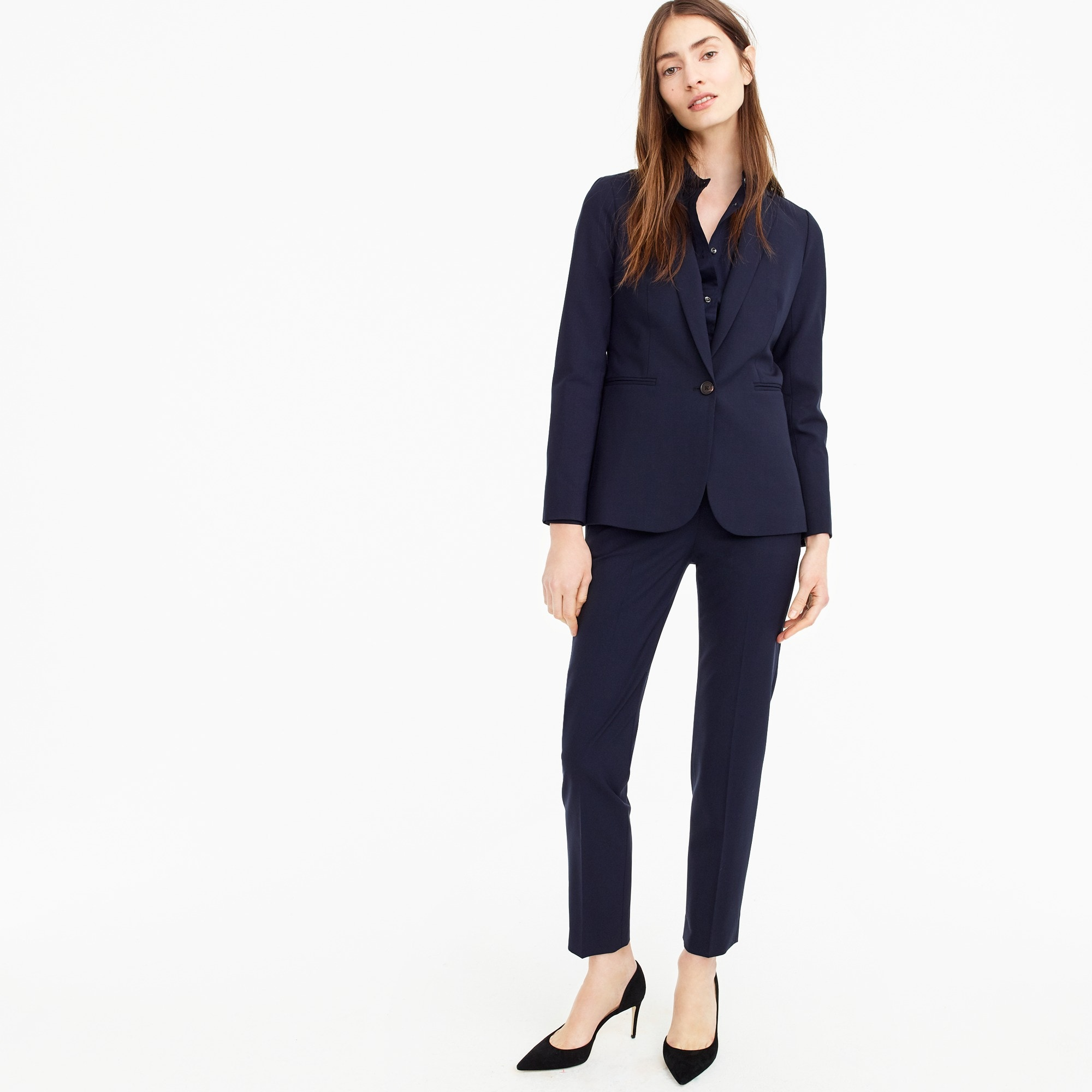 Petite Parke jacket in Italian two-way stretch wool