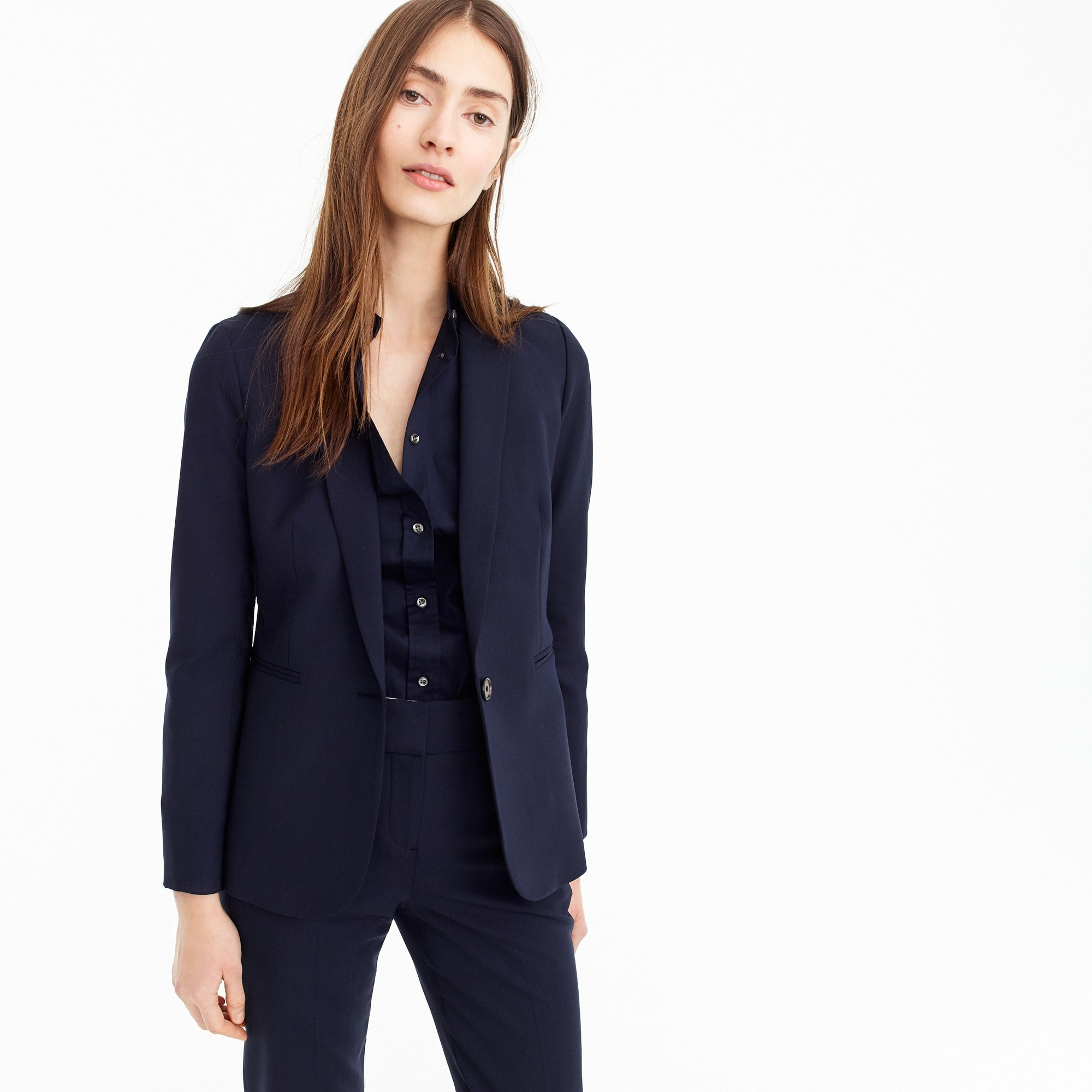 Tall Parke jacket in Italian two-way stretch wool