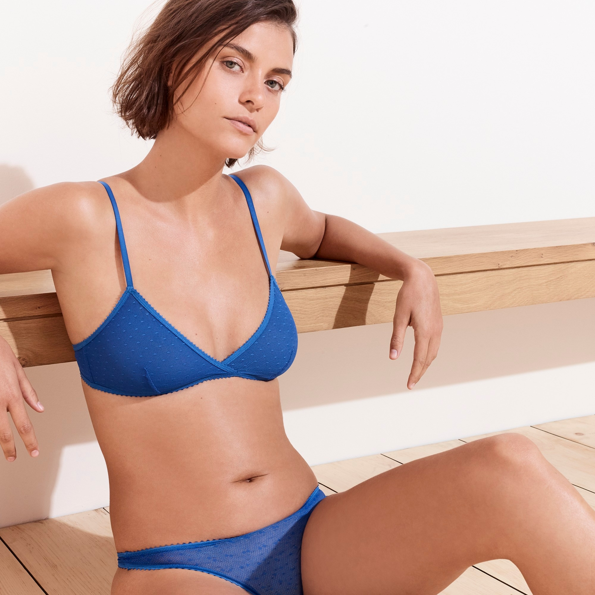 French bralette in point d'esprit