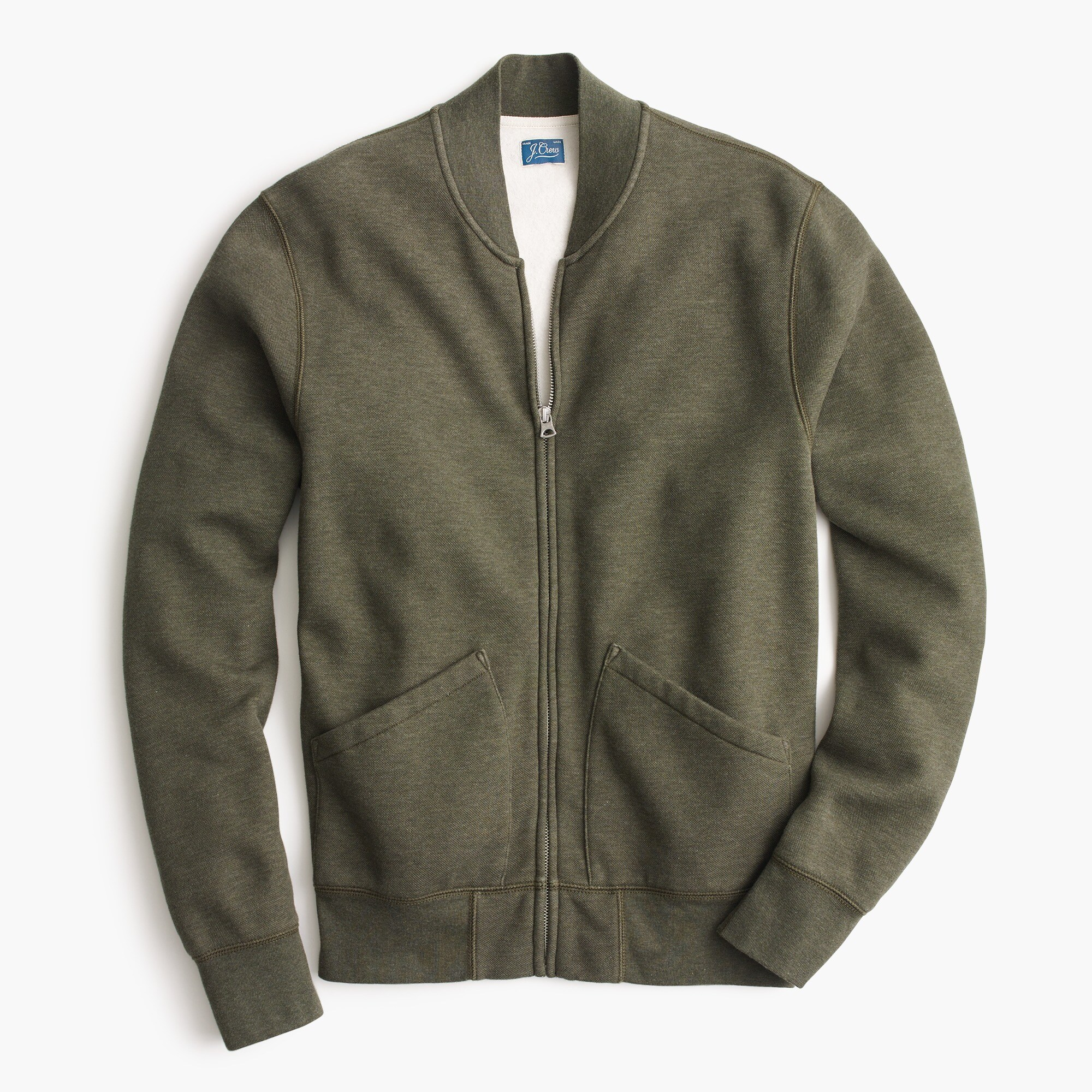 Bomber jacket in piqué fleece