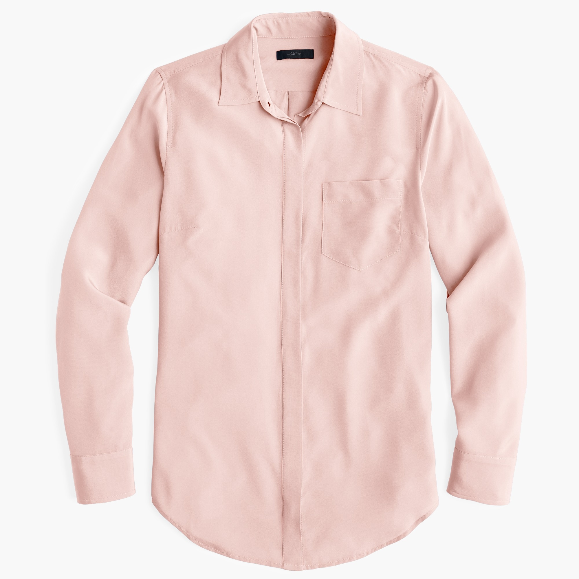 Image 1 for Tall silk button-up shirt