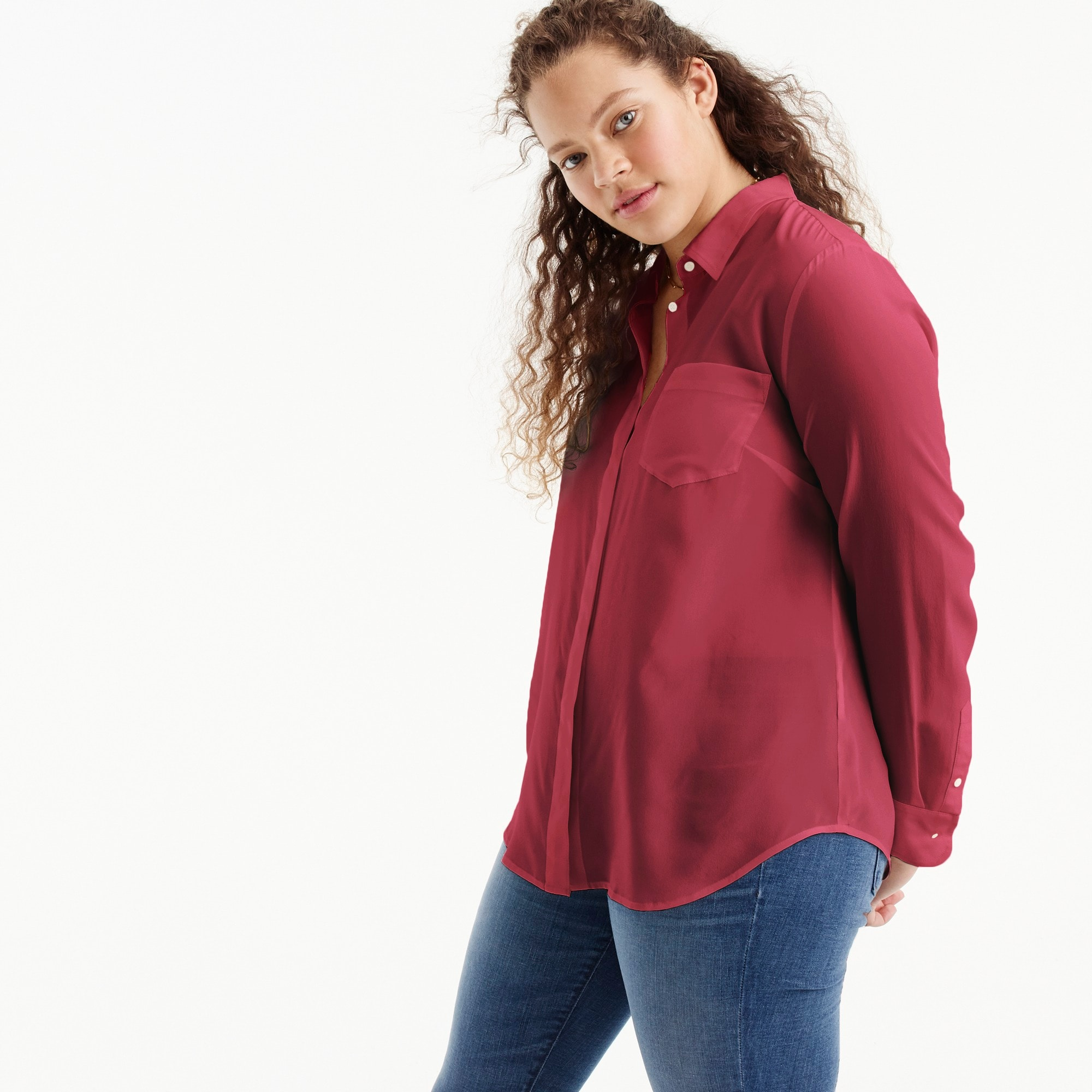 Image 1 for Silk button-up shirt