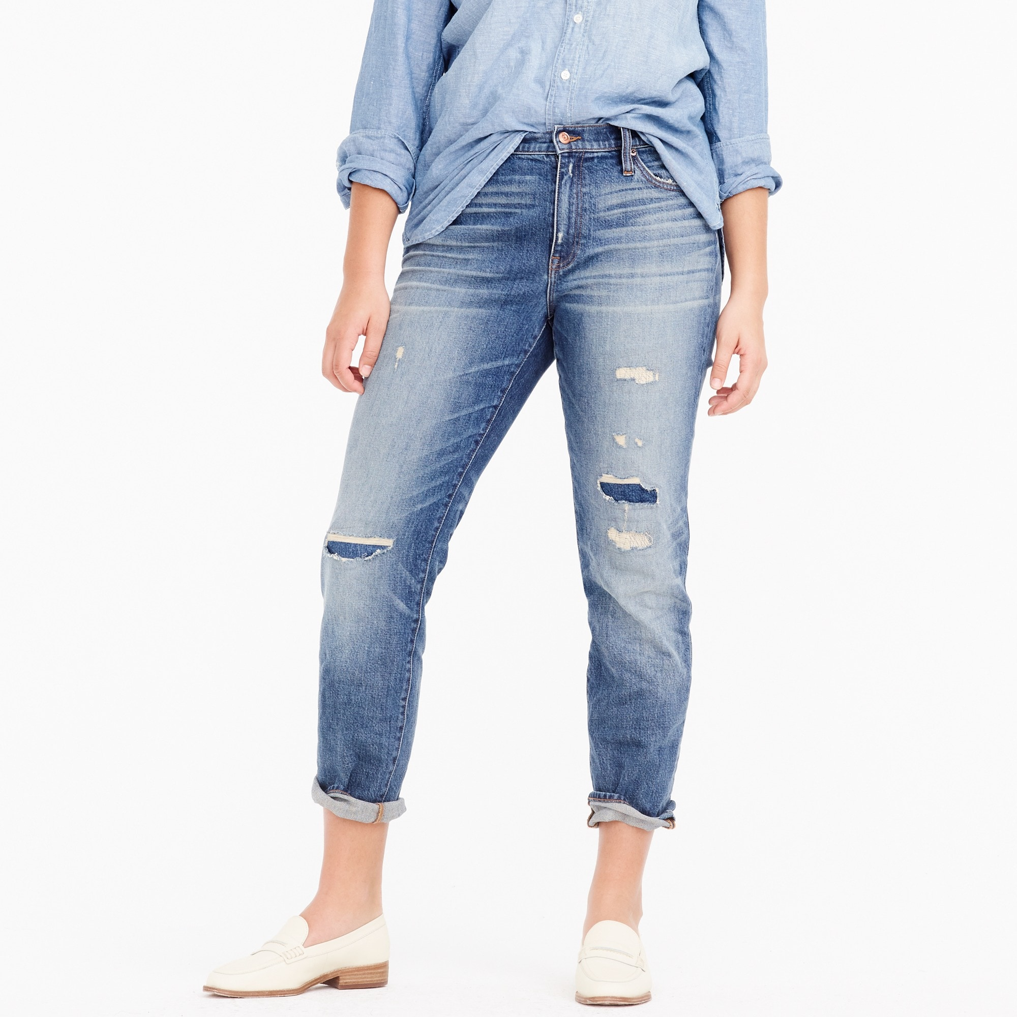 Slim boyfriend jean in charles wash