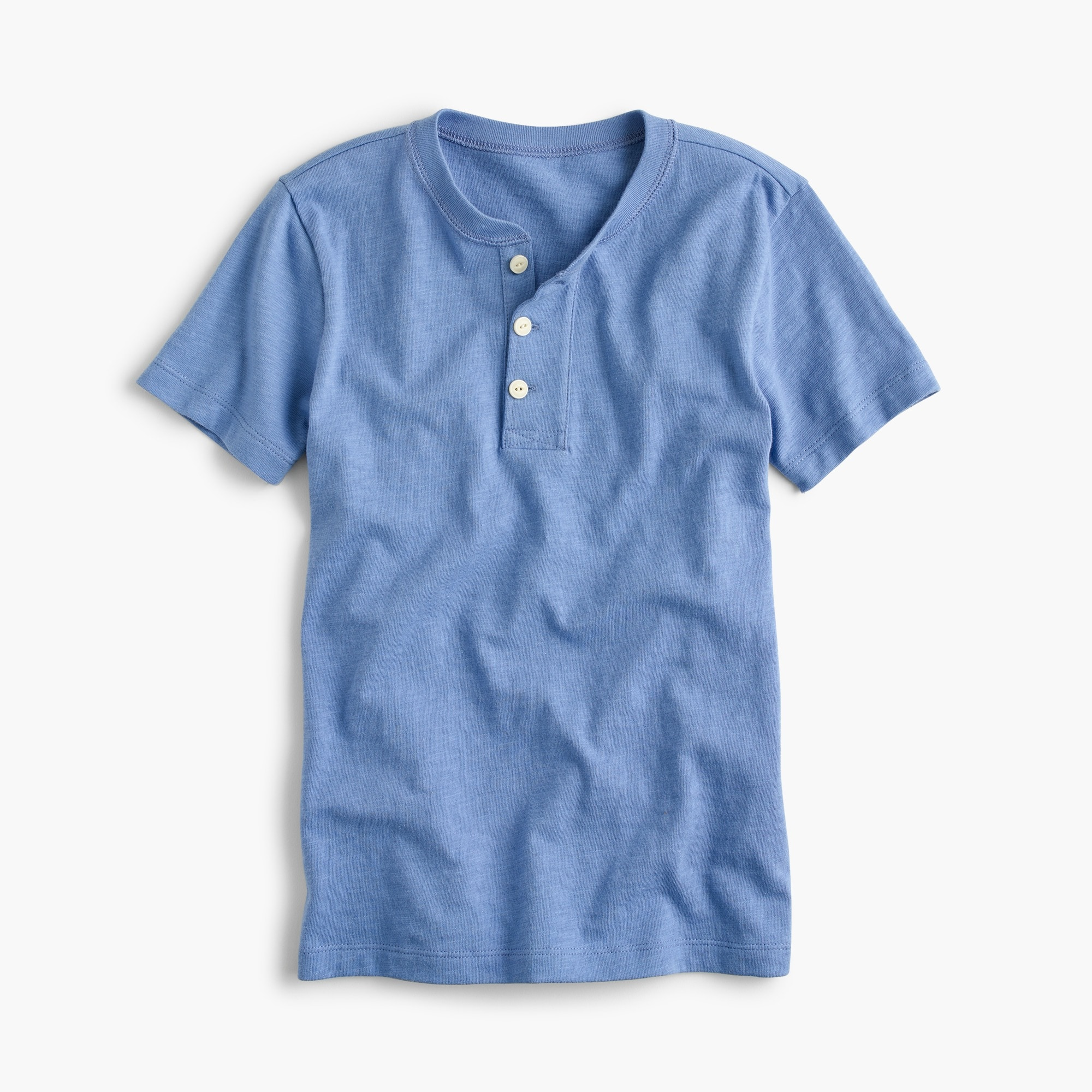 Boys' short-sleeve henley shirt