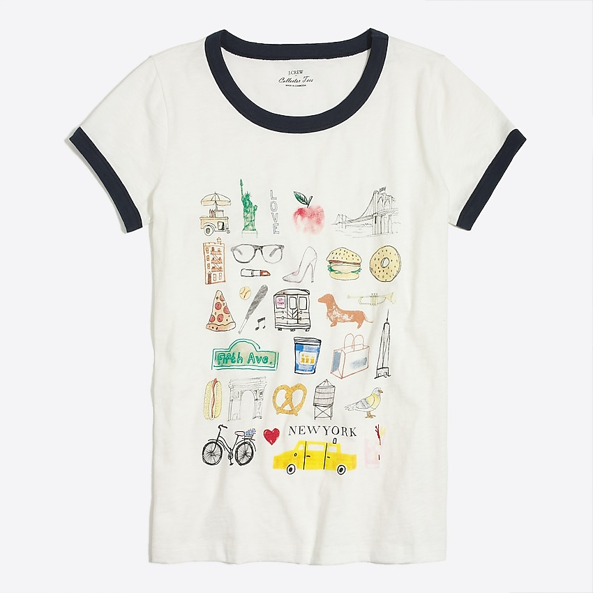 j.crew factory: new york collector tee for women, right side, view zoomed