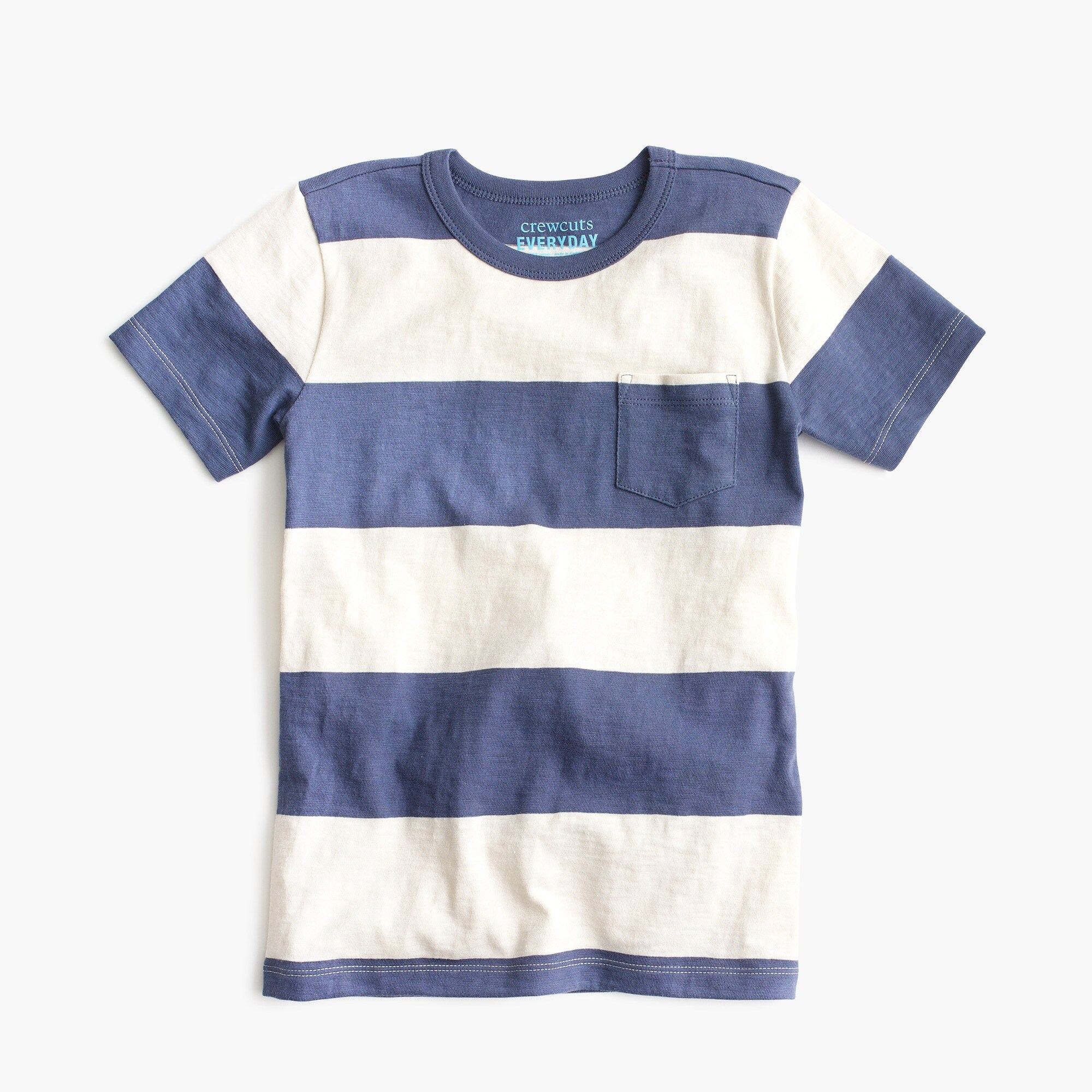 Boys' rugby-striped pocket T-shirt boy t-shirts & polos c