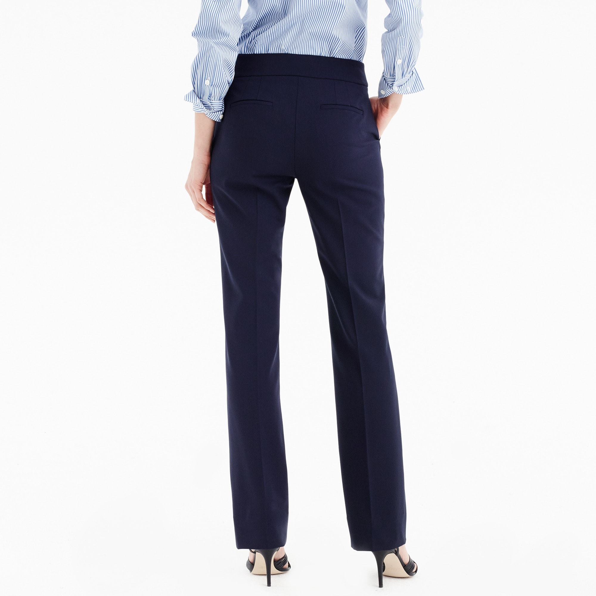 Image 2 for Edie full-length lined trouser in Italian two-way stretch wool