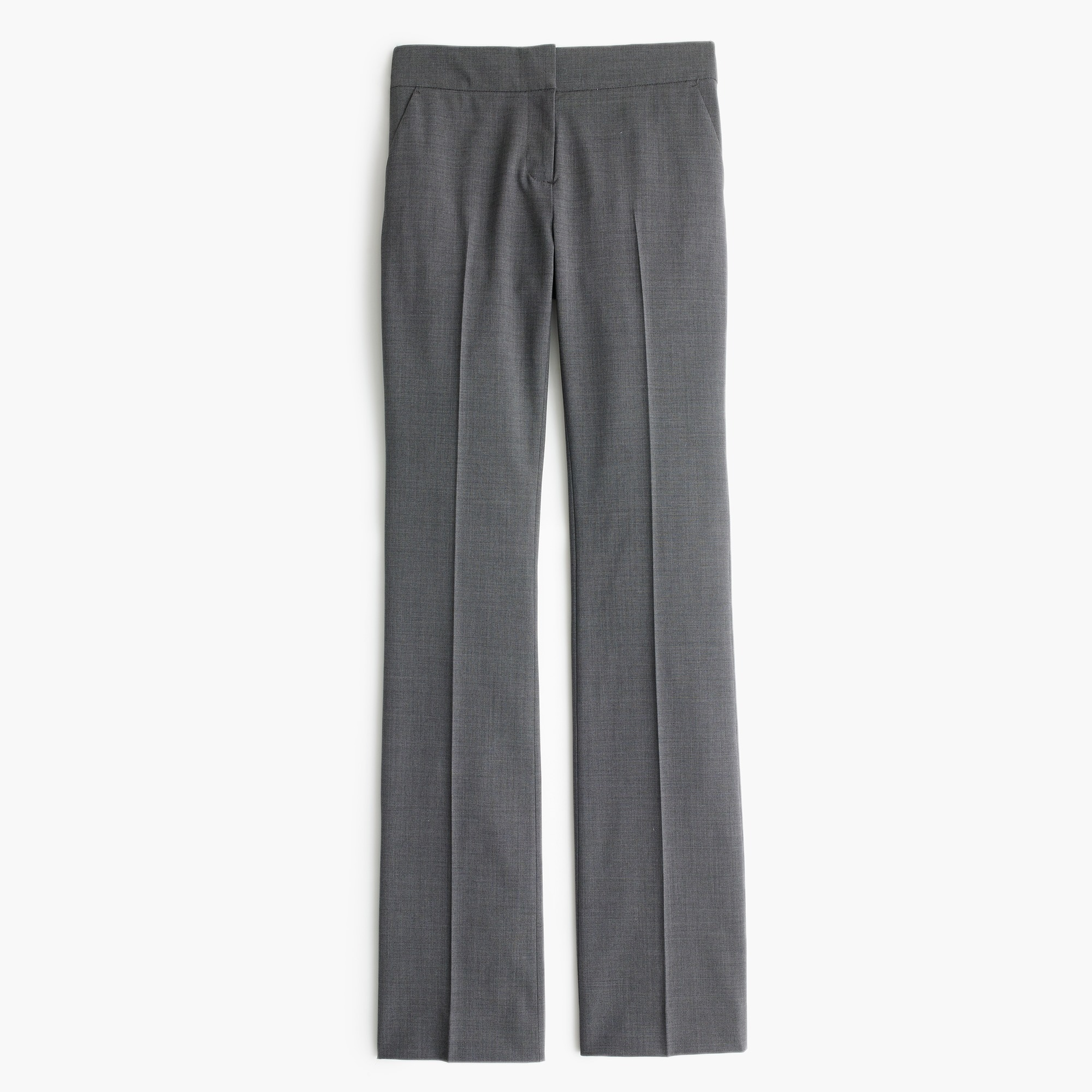 Edie full-length lined trouser in Italian two-way stretch wool