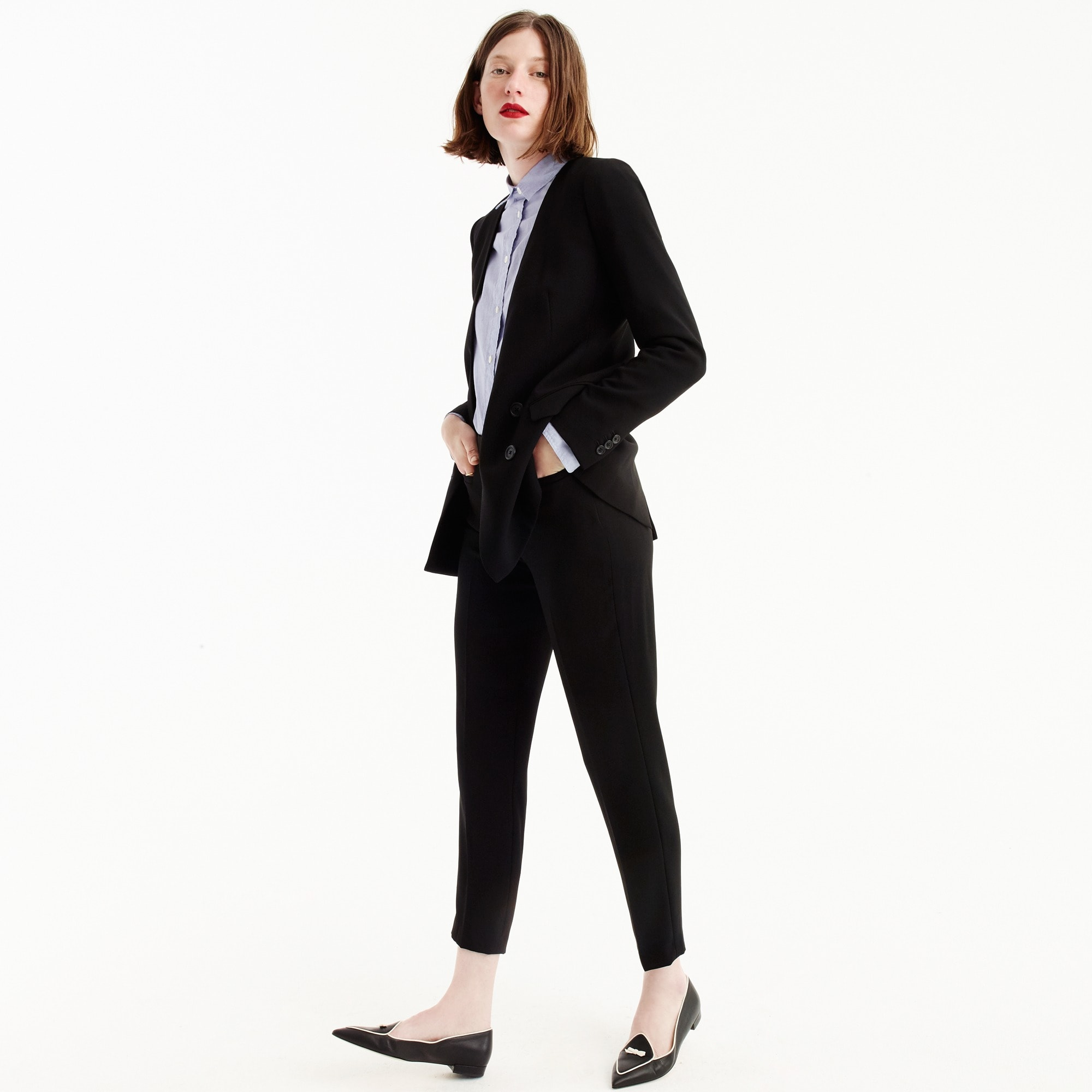 Tall French girl blazer in 365 crepe