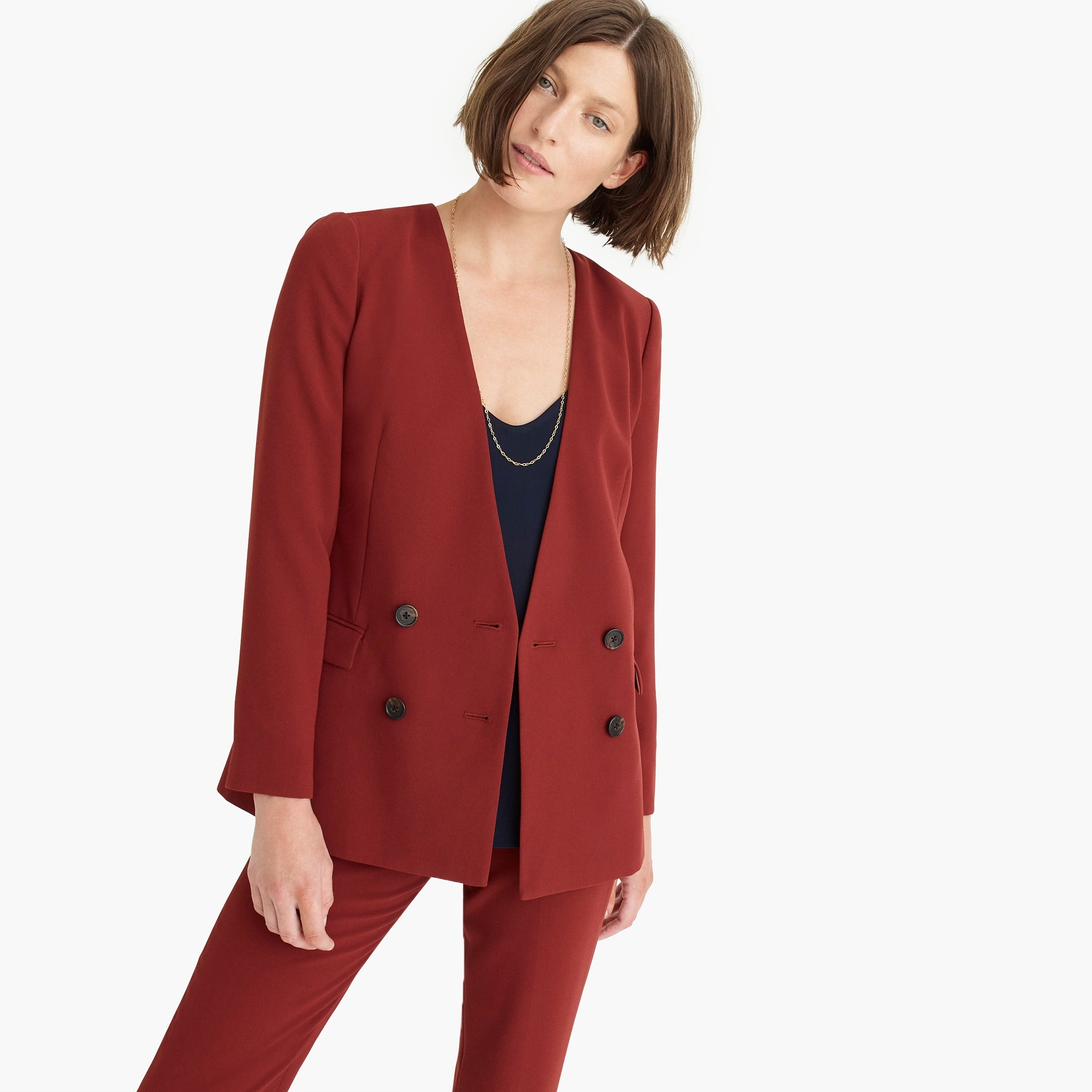 French girl blazer in 365 crepe