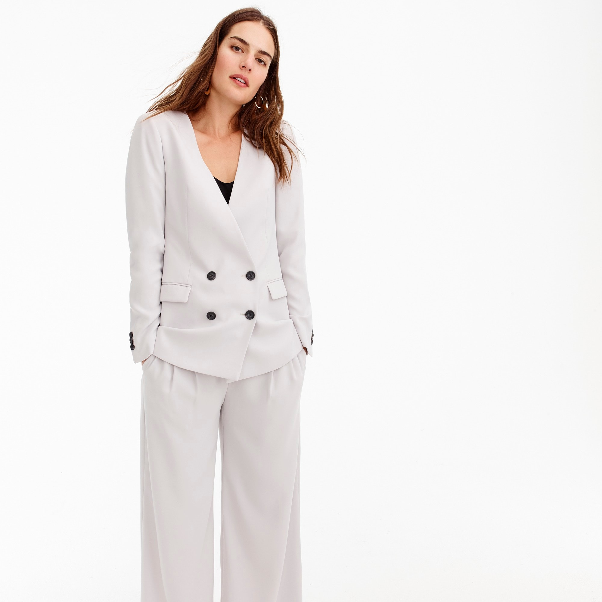 French girl blazer in 365 crepe women suiting c