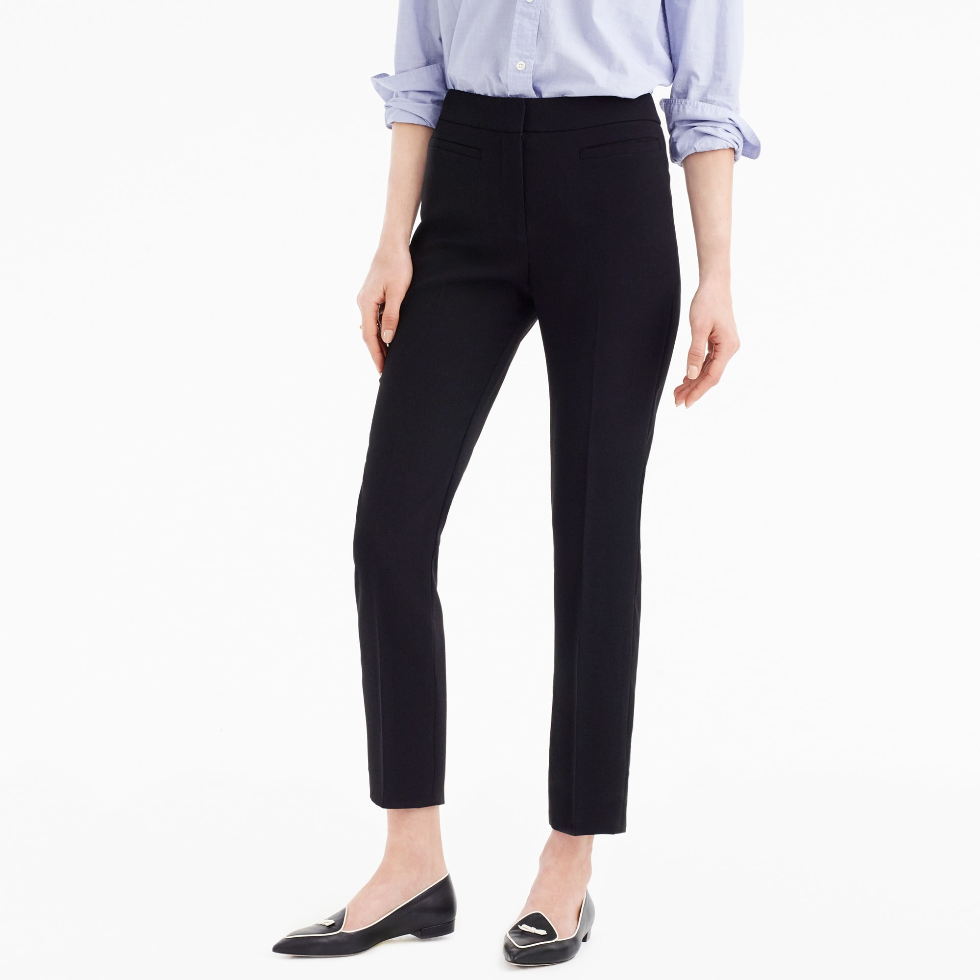 women's french girl slim crop pant in 365 crepe - women's suit separates