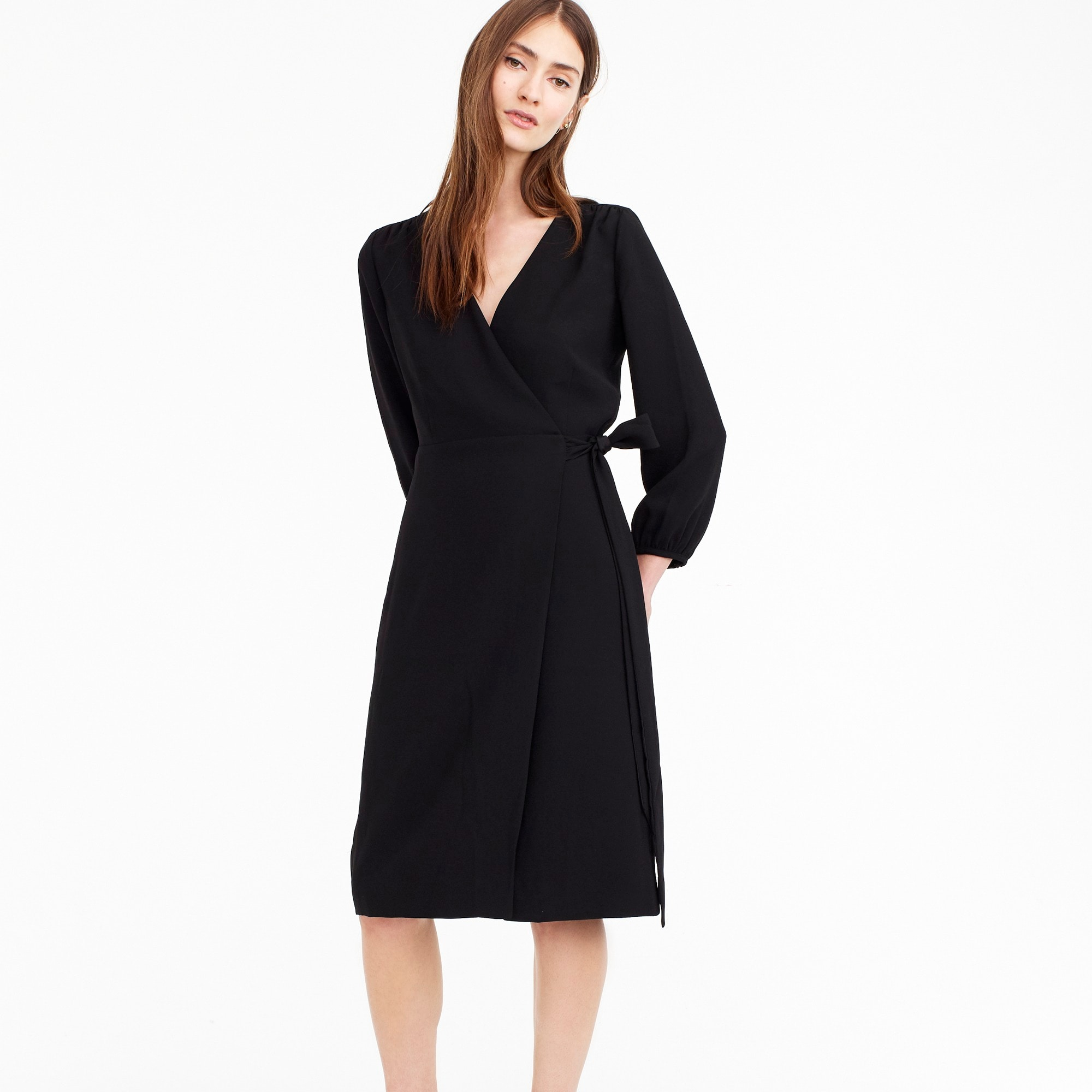 Tall wrap dress in 365 crepe