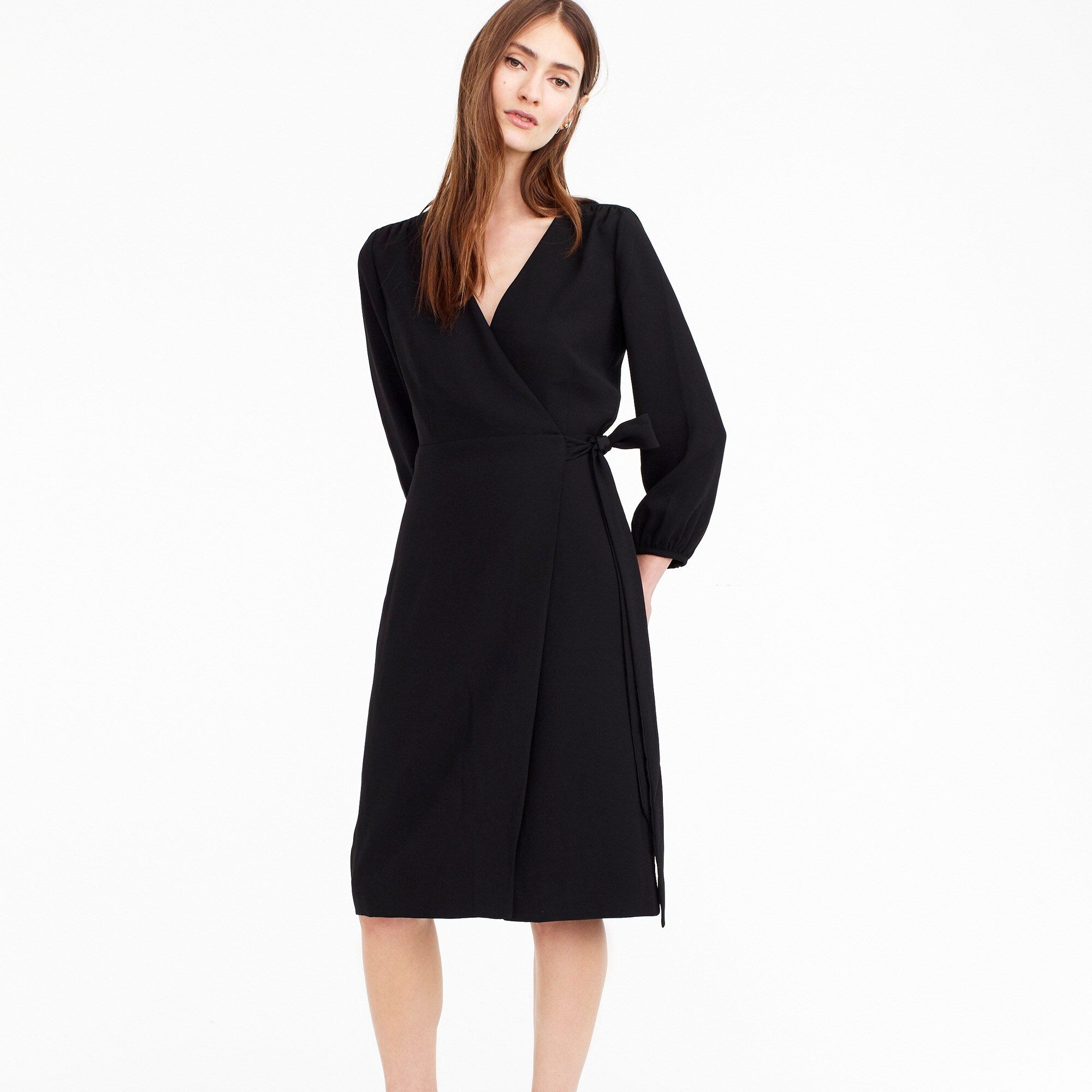 womens Wrap dress in 365 crepe