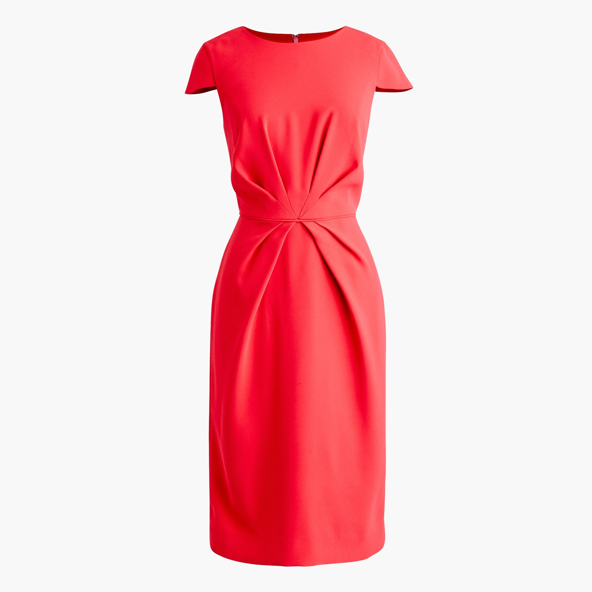 womens Pleated sheath dress in 365 crepe