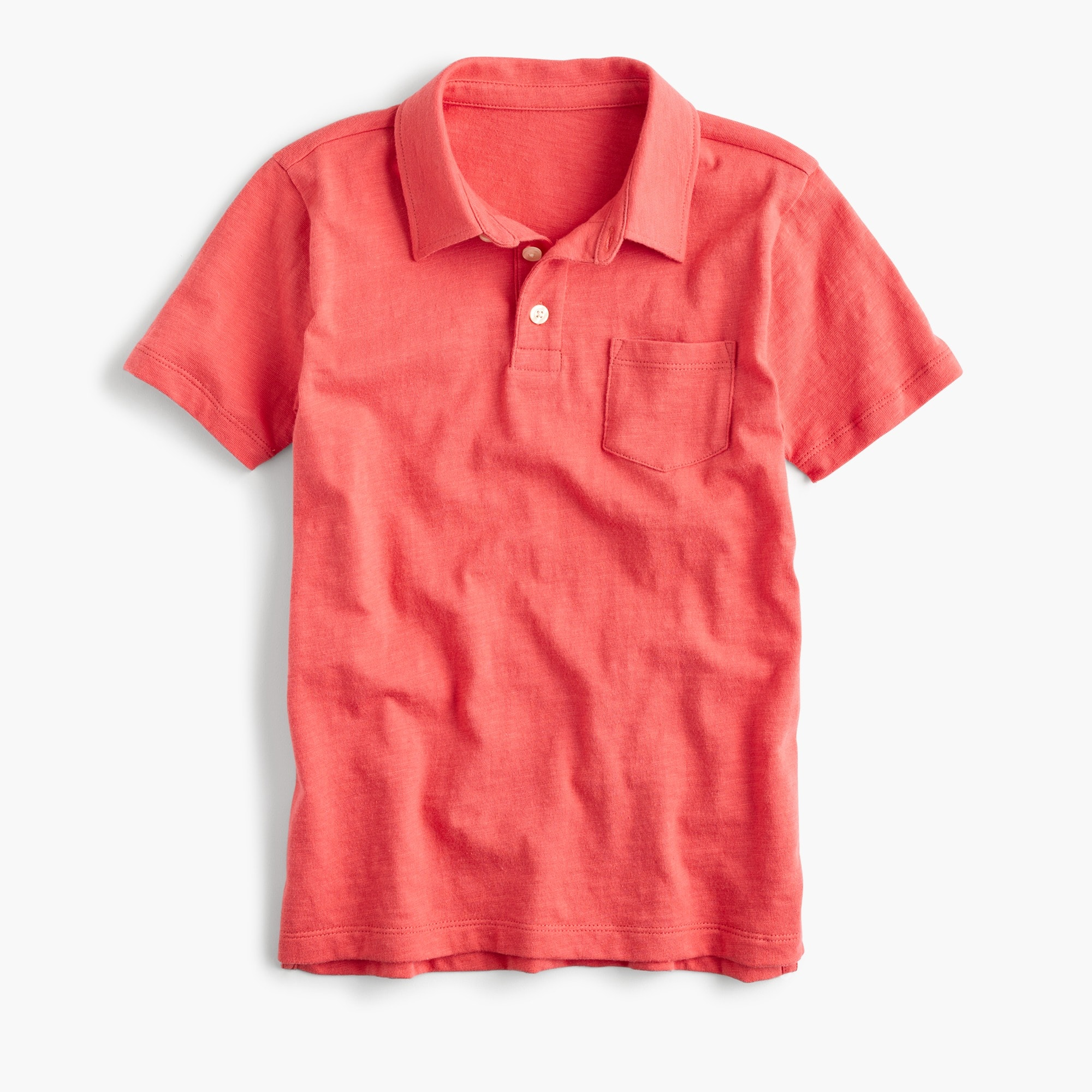 Boys' slub cotton polo shirt boy t-shirts & polos c