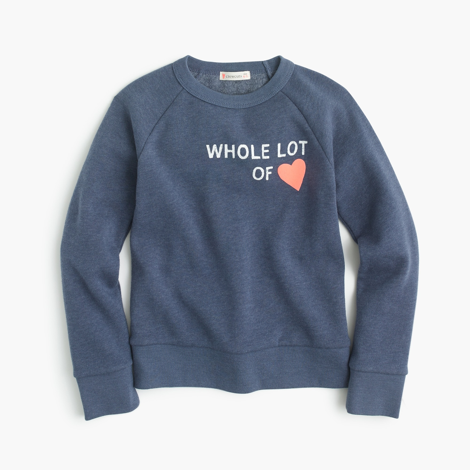 "Girls' ""whole lot of love"" sweatshirt girl new arrivals c"
