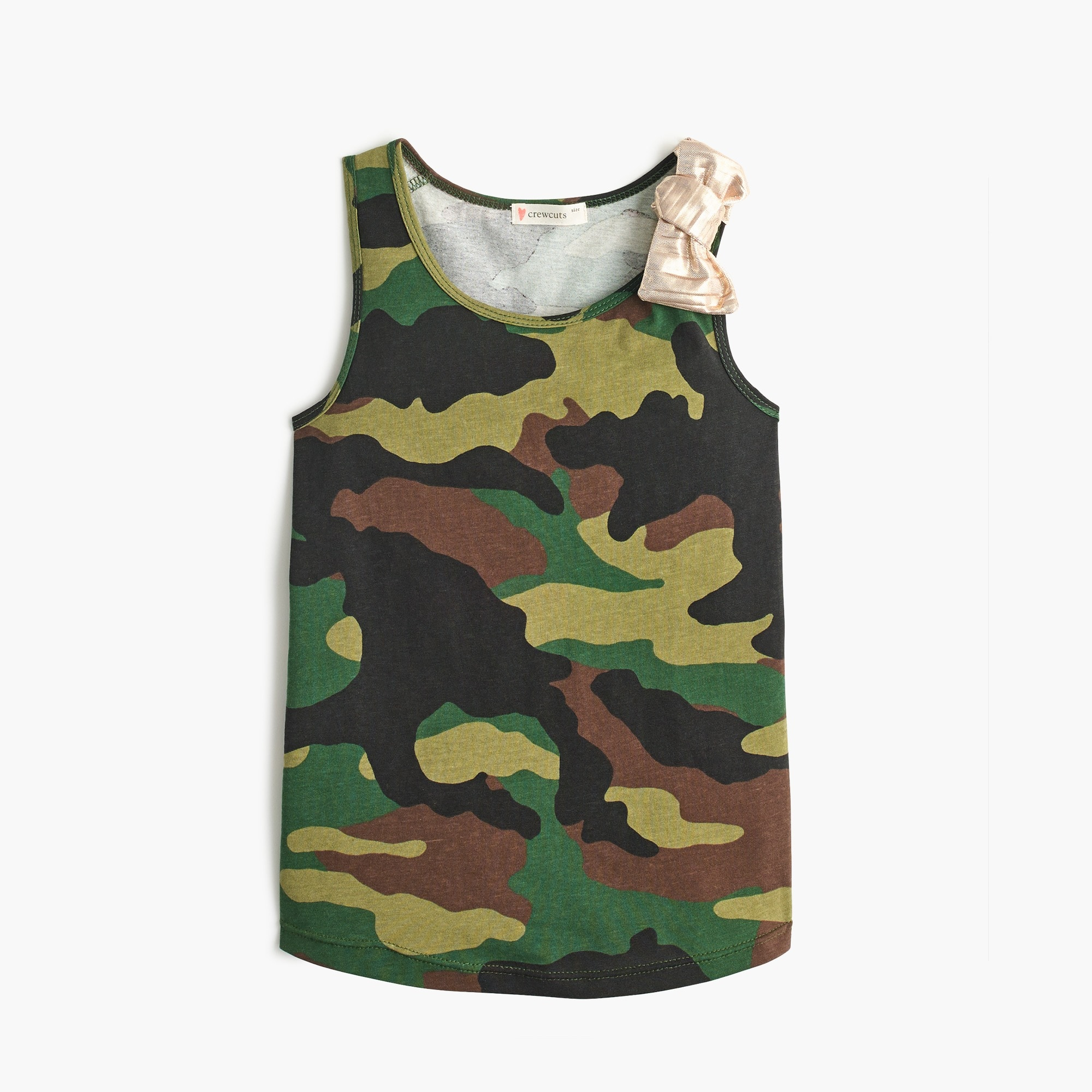 Girls' camo tank top with bow girl new arrivals c