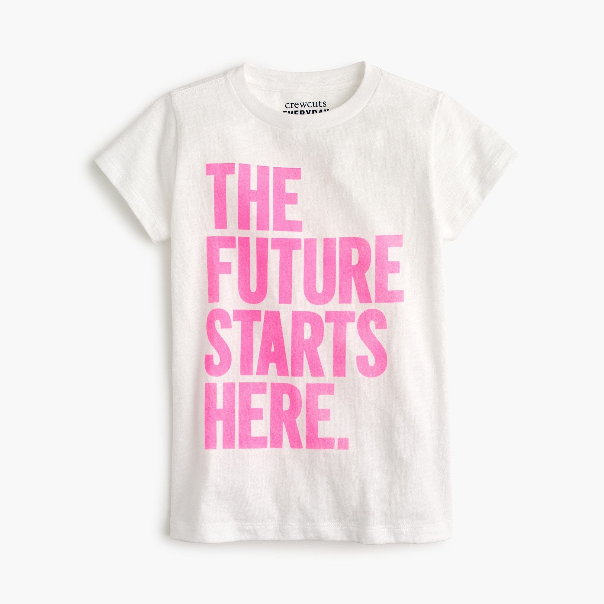 "Girls' ""the future starts here"" T-shirt girl new arrivals c"